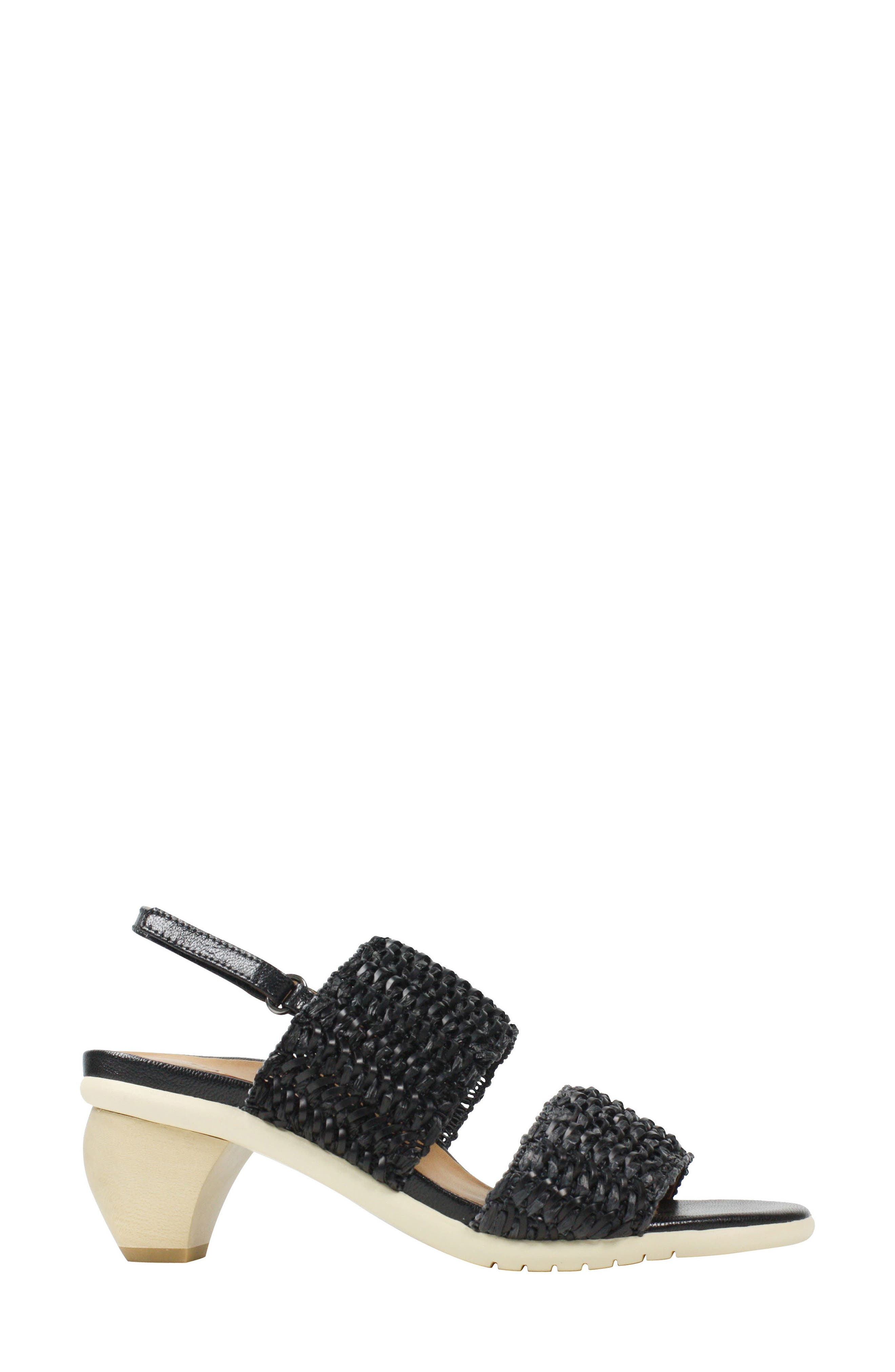 Ulrica Sandal,                             Alternate thumbnail 3, color,                             Black Fabric