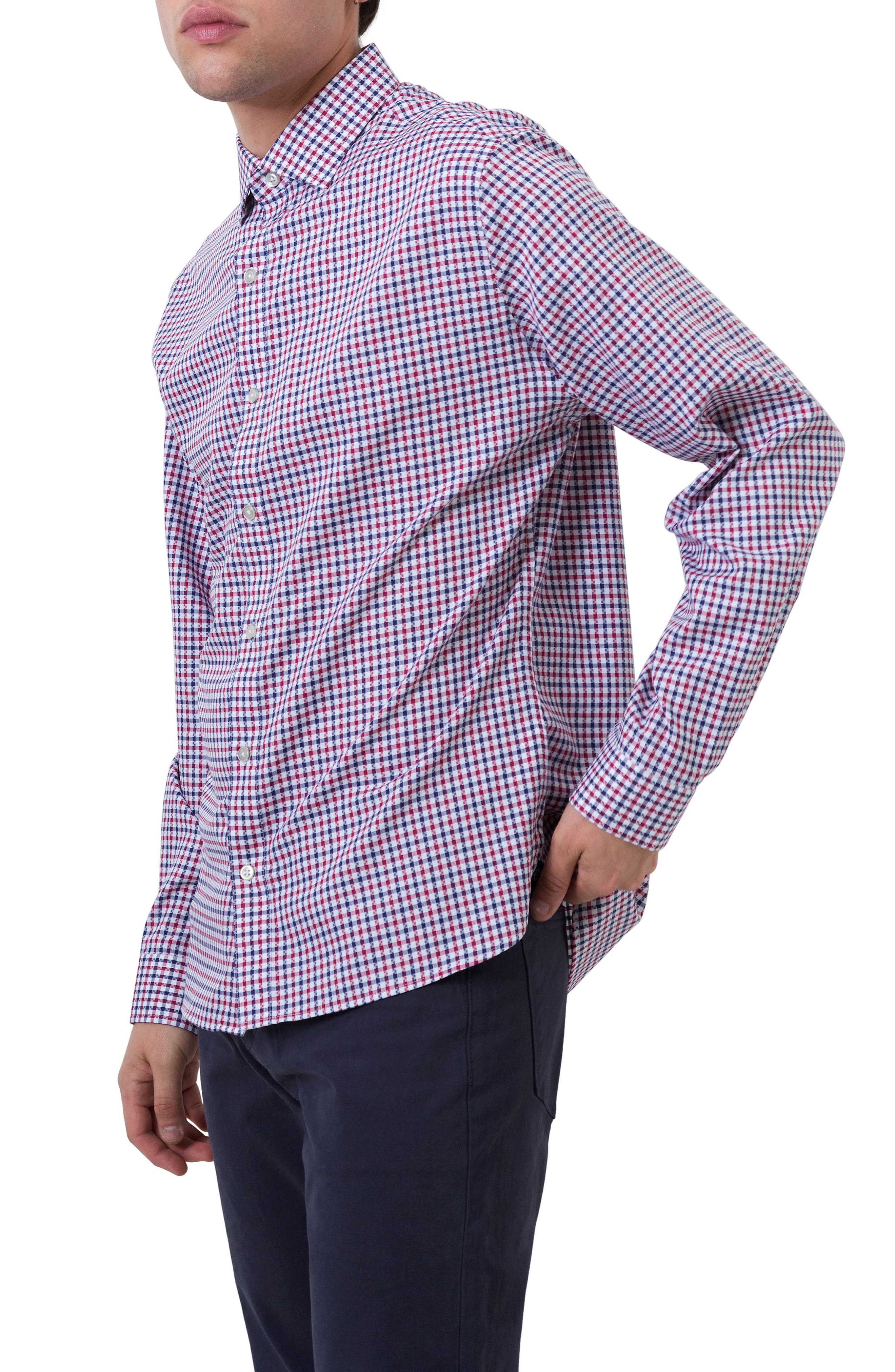 Freedom Road Woven Shirt,                             Alternate thumbnail 3, color,                             Red