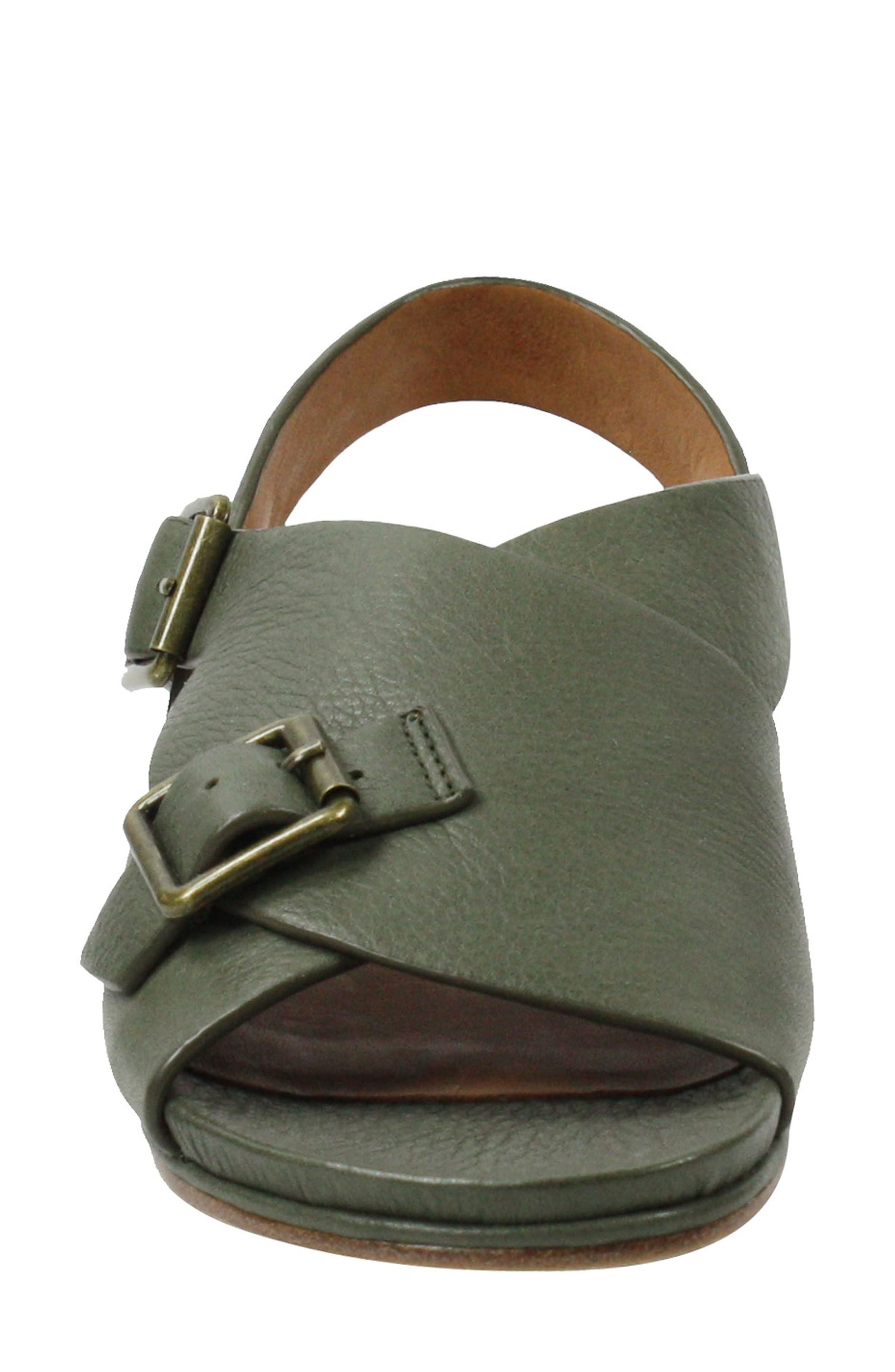 Dordogne Sandal,                             Alternate thumbnail 4, color,                             Olive Leather