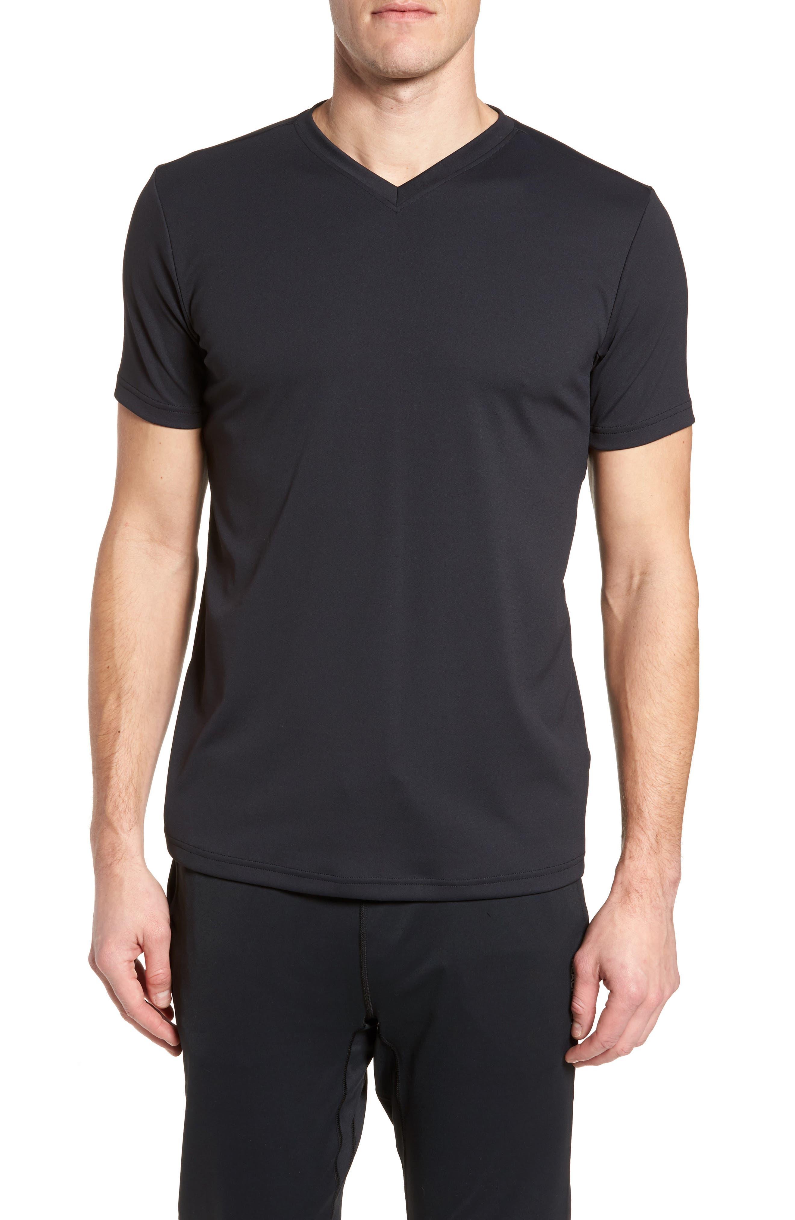 Energy V-Neck T-Shirt,                         Main,                         color, Black