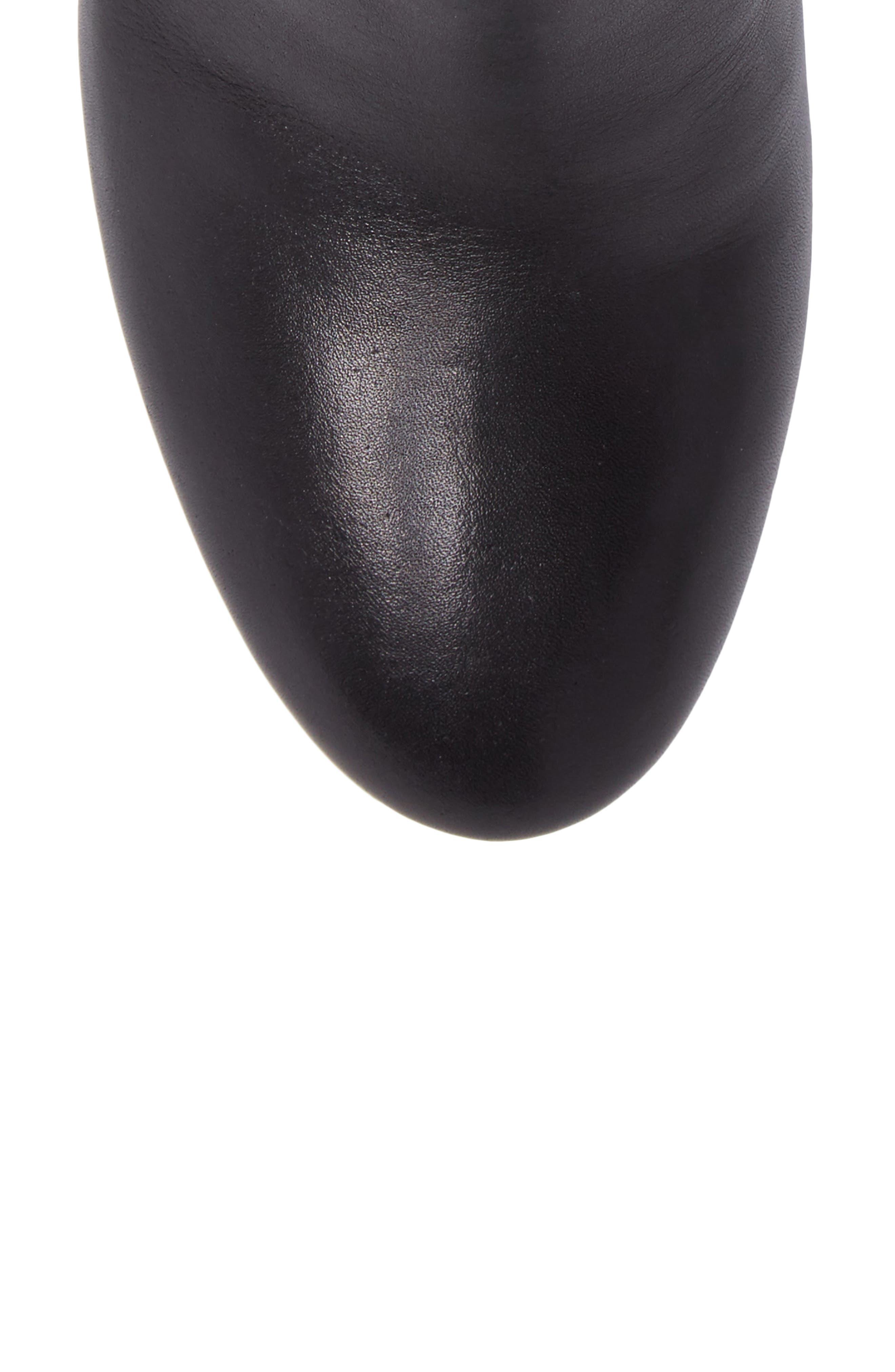 Brooke Bootie,                             Alternate thumbnail 5, color,                             Black Leather