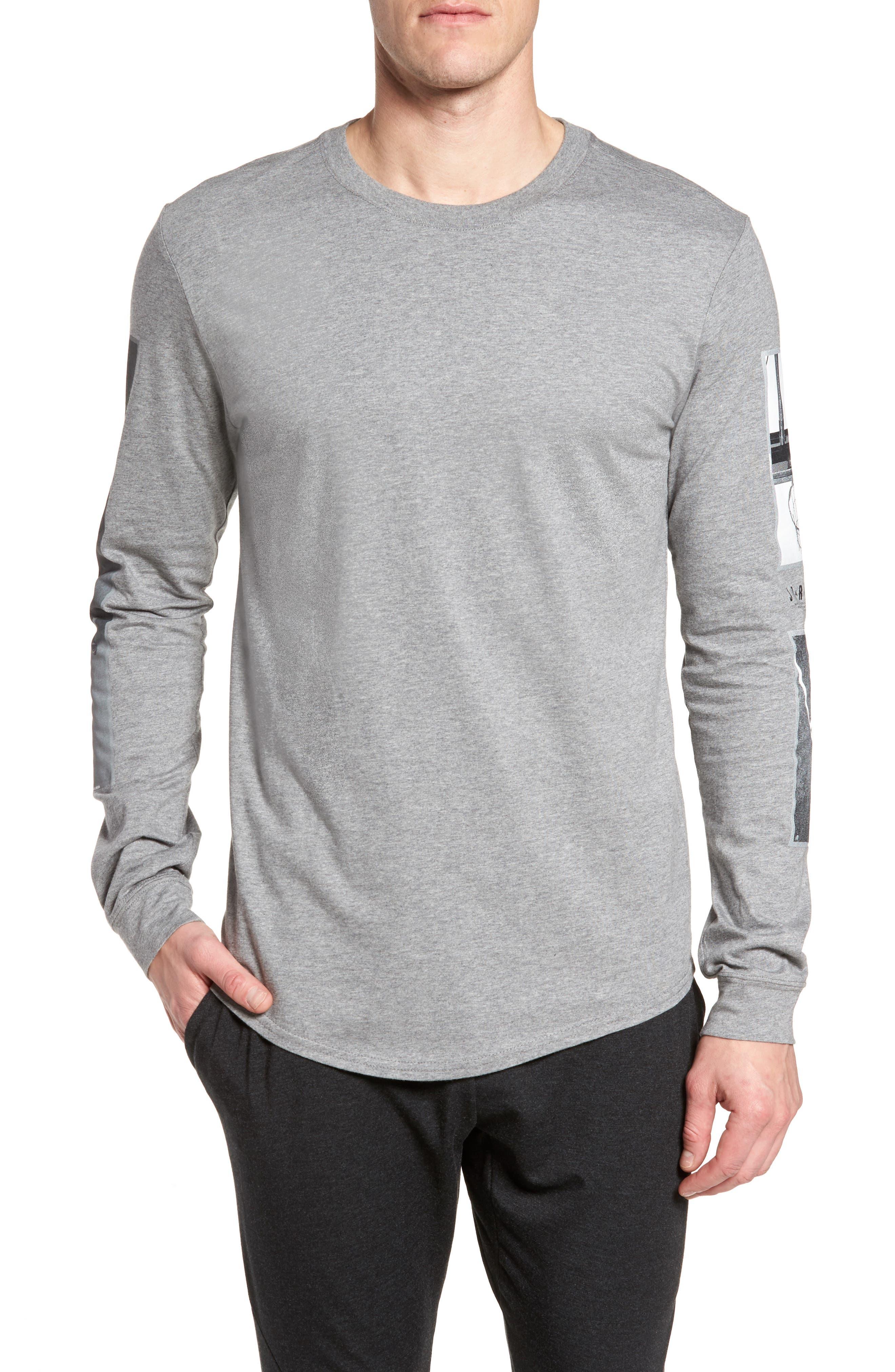 Sportswear Photo Sleeve T-Shirt,                         Main,                         color, Carbon Heather