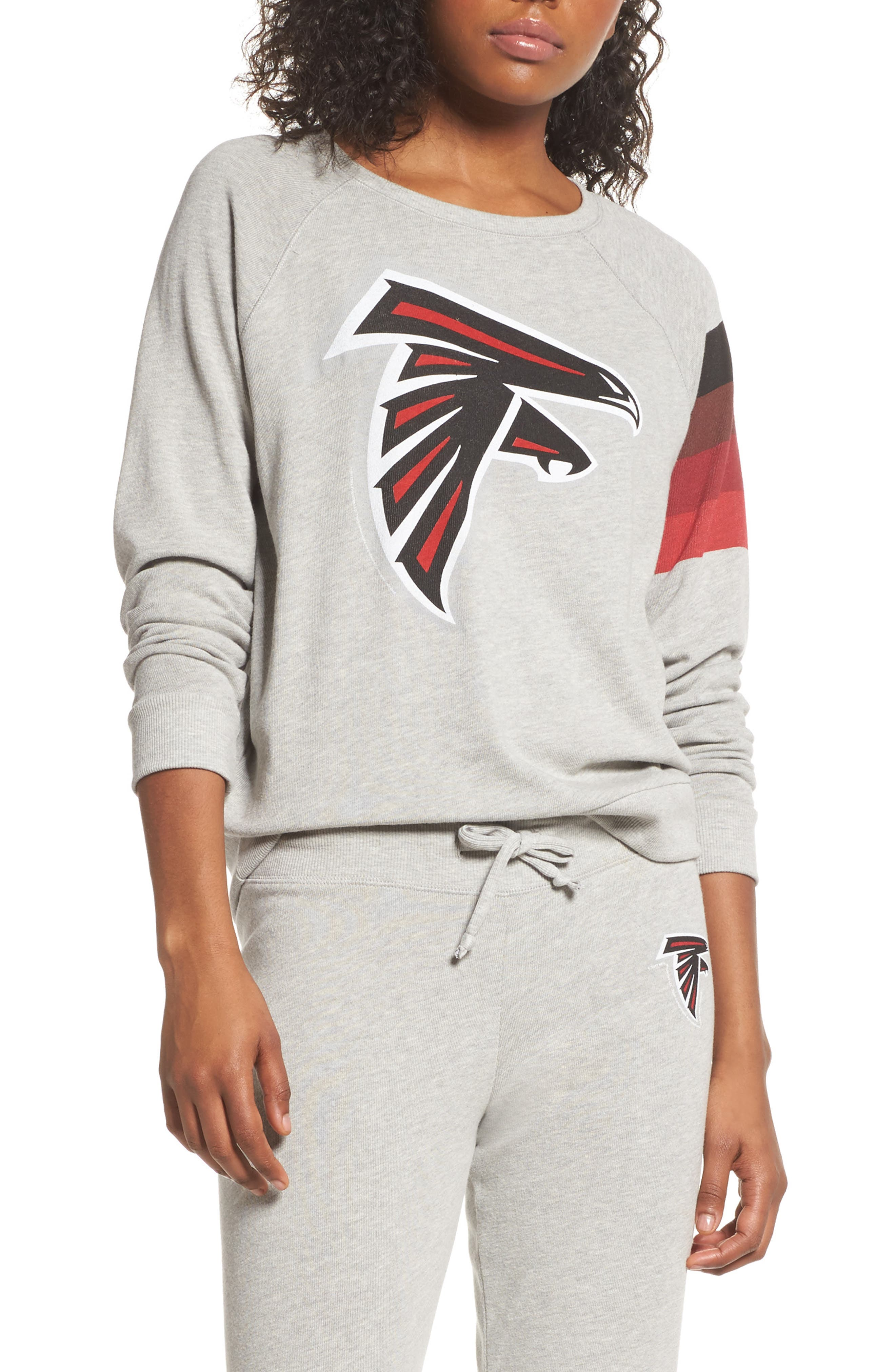 NFL Atlanta Falcons Hacci Sweatshirt,                             Main thumbnail 1, color,                             Dove Heather Grey