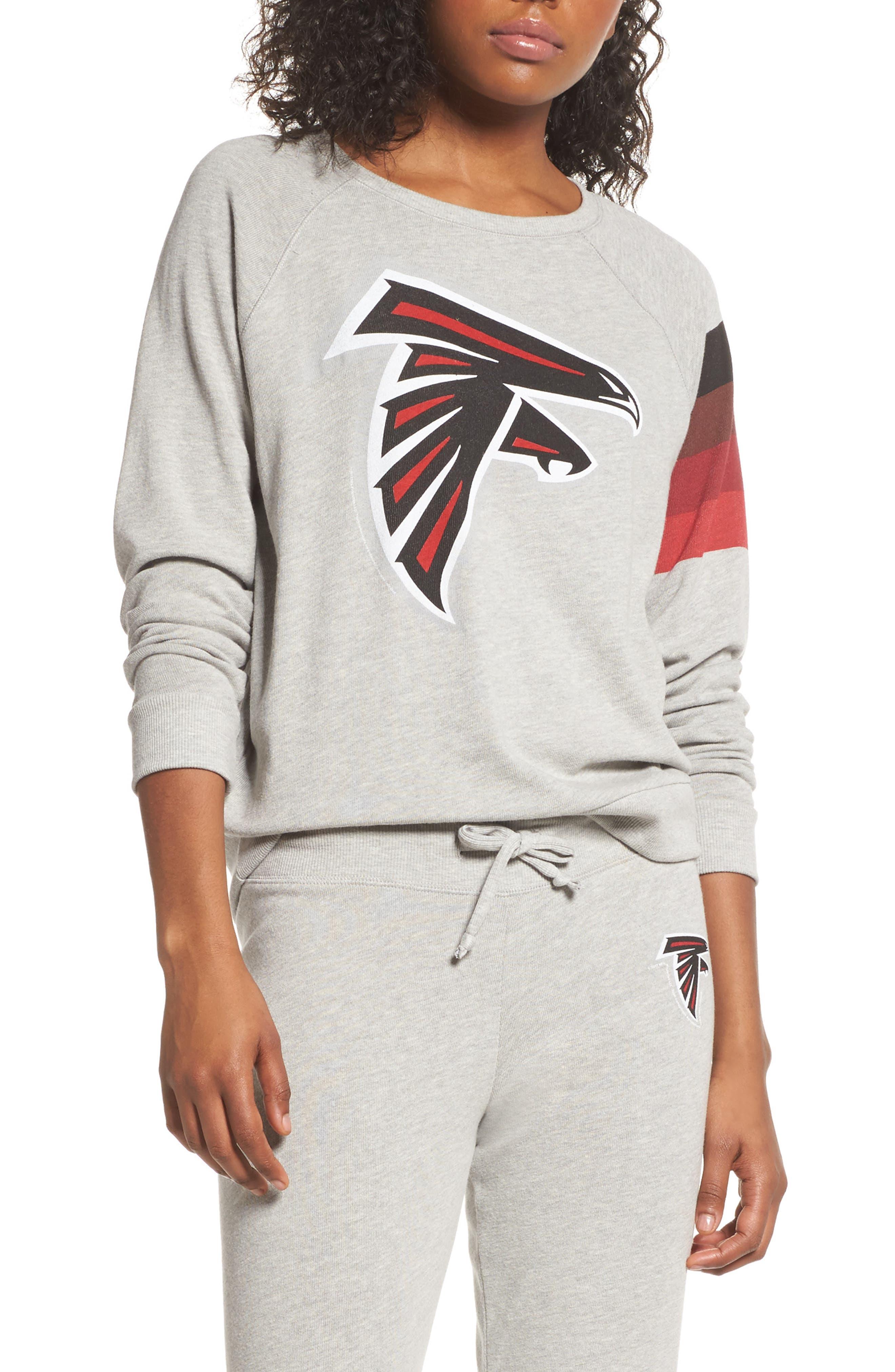 NFL Atlanta Falcons Hacci Sweatshirt,                         Main,                         color, Dove Heather Grey