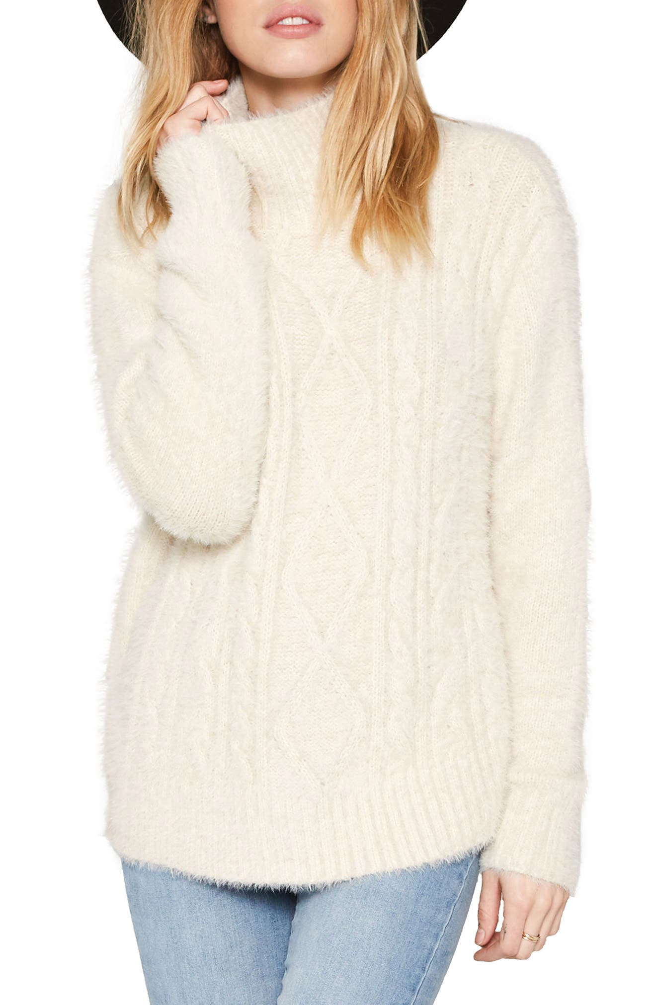 Women's Off-White Turtleneck Sweaters | Nordstrom