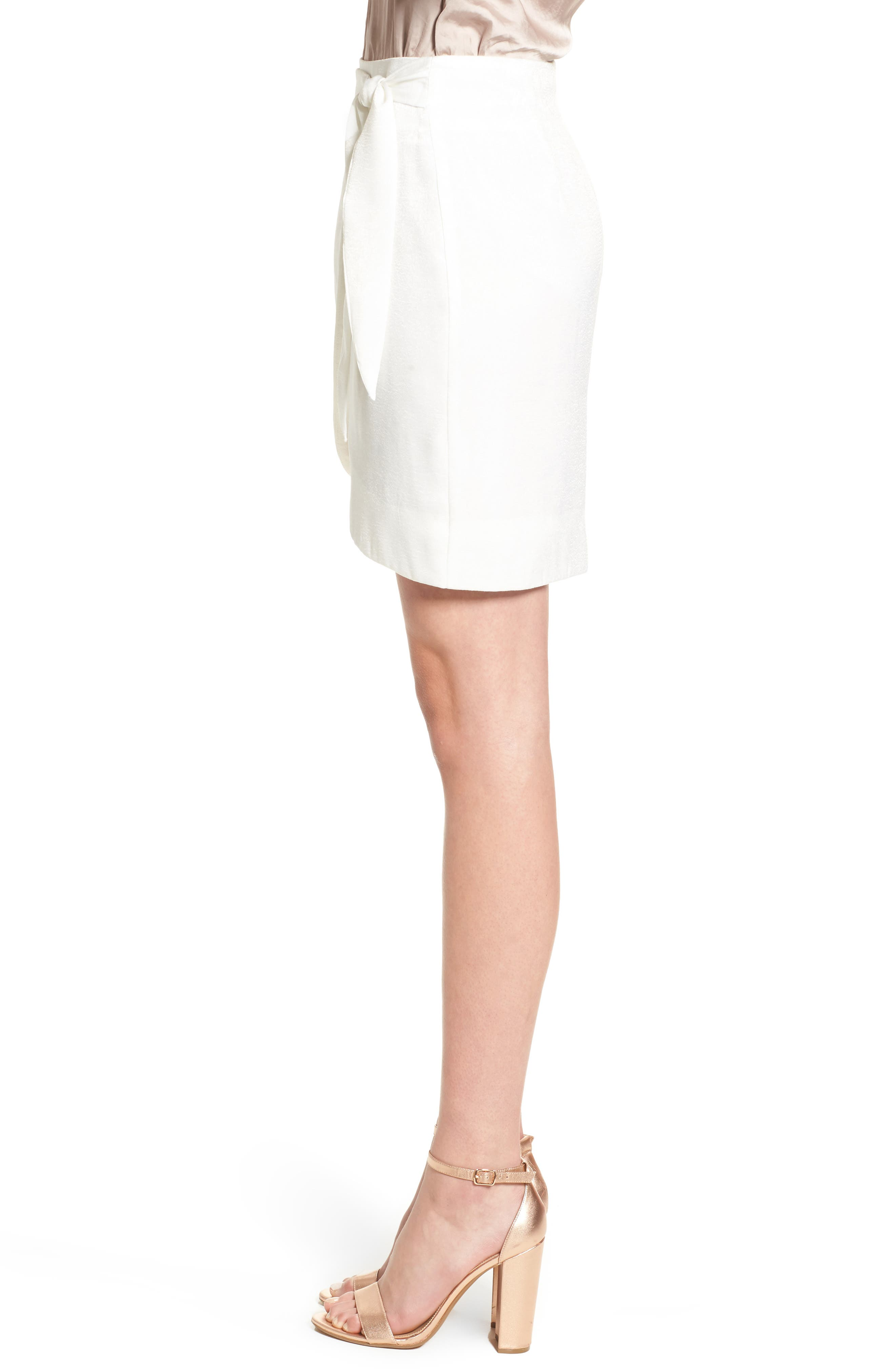 Wrap Skirt,                             Alternate thumbnail 3, color,                             White