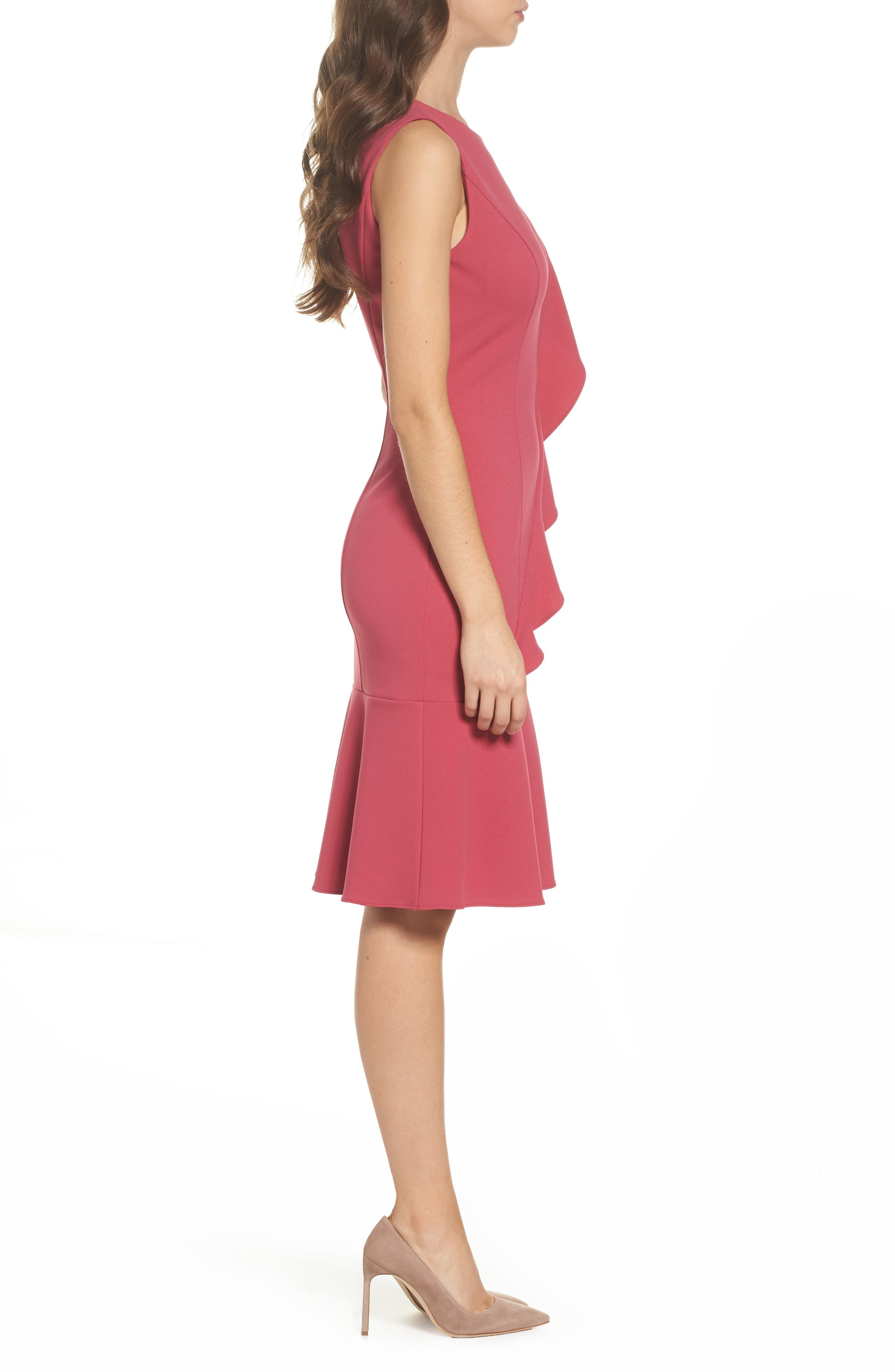 Alternate Image 3  - Adrianna Papell Ruffle Crepe Dress