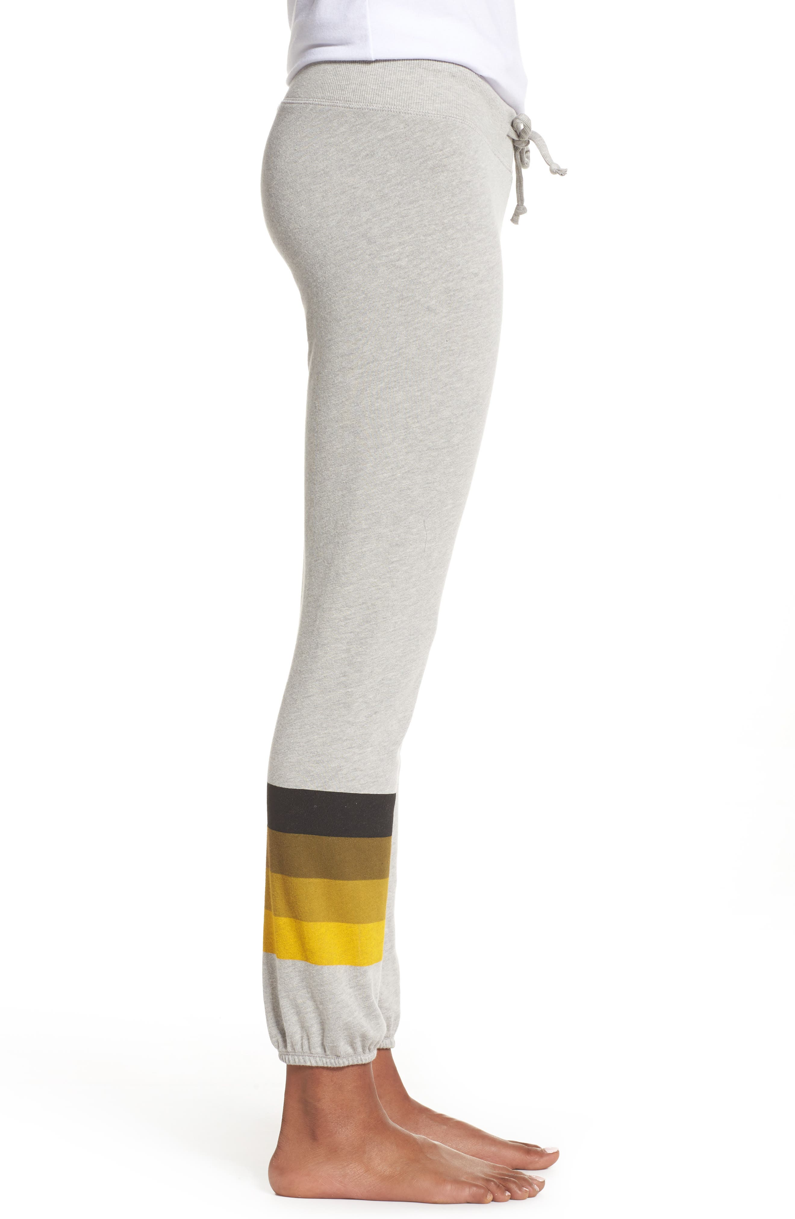 NFL Pittsburgh Steelers Hacci Sweatpants,                             Alternate thumbnail 3, color,                             Dove Heather Grey
