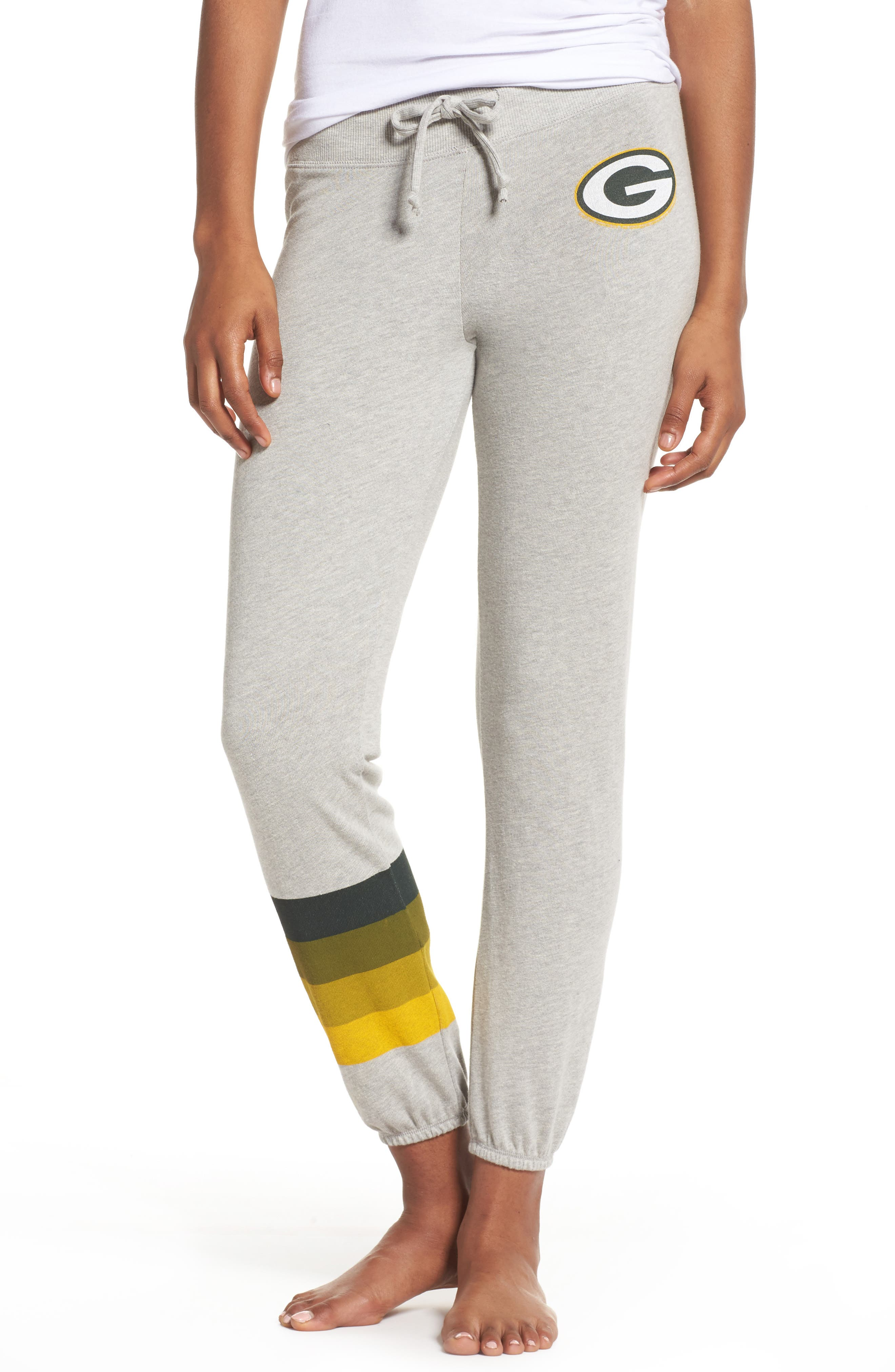 NFL Green Bay Packers Hacci Sweatpants,                             Main thumbnail 1, color,                             Dove Heather Grey
