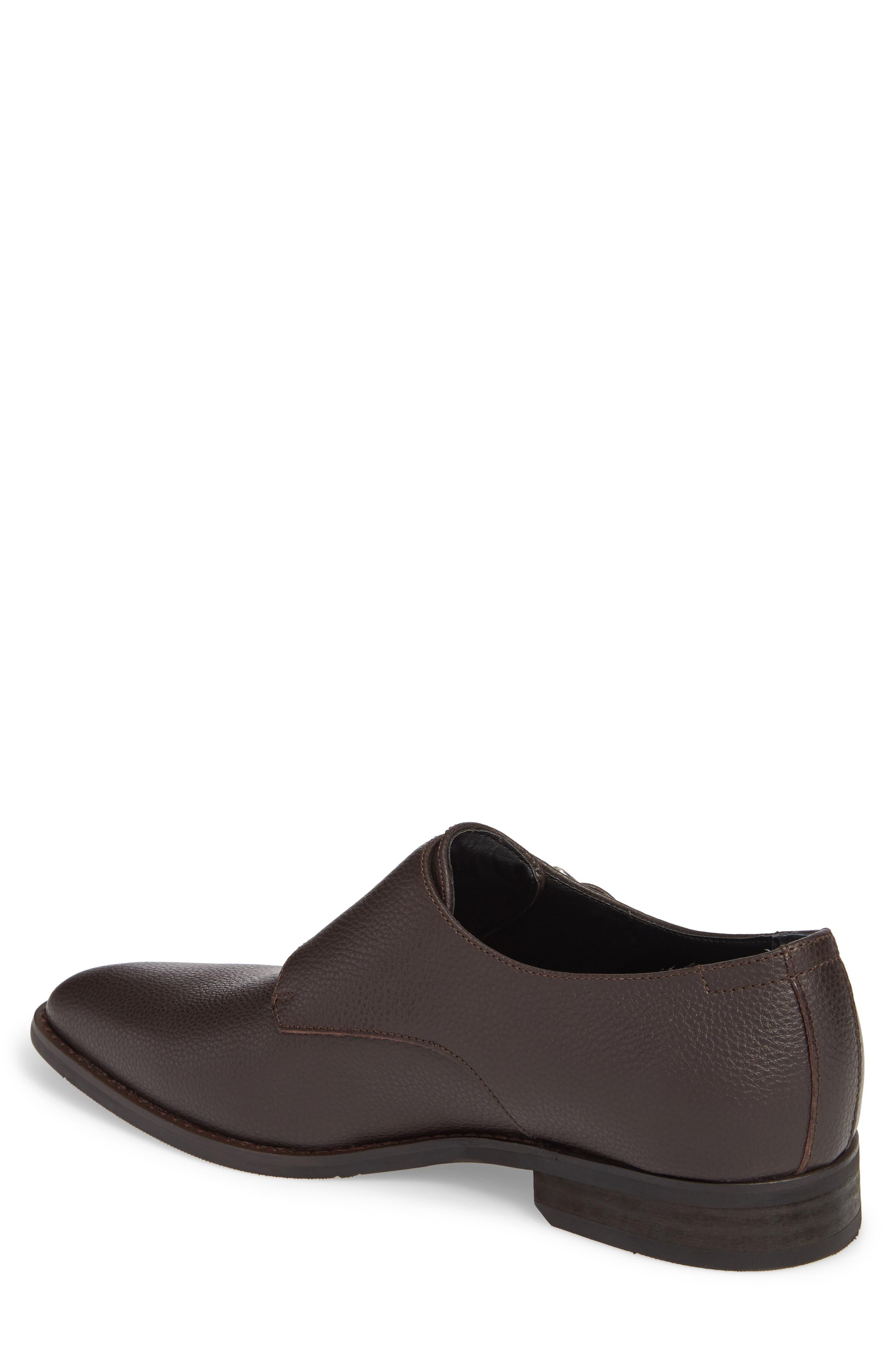 Robbie Double Monk Strap Shoe,                             Alternate thumbnail 2, color,                             Dark Brown Leather