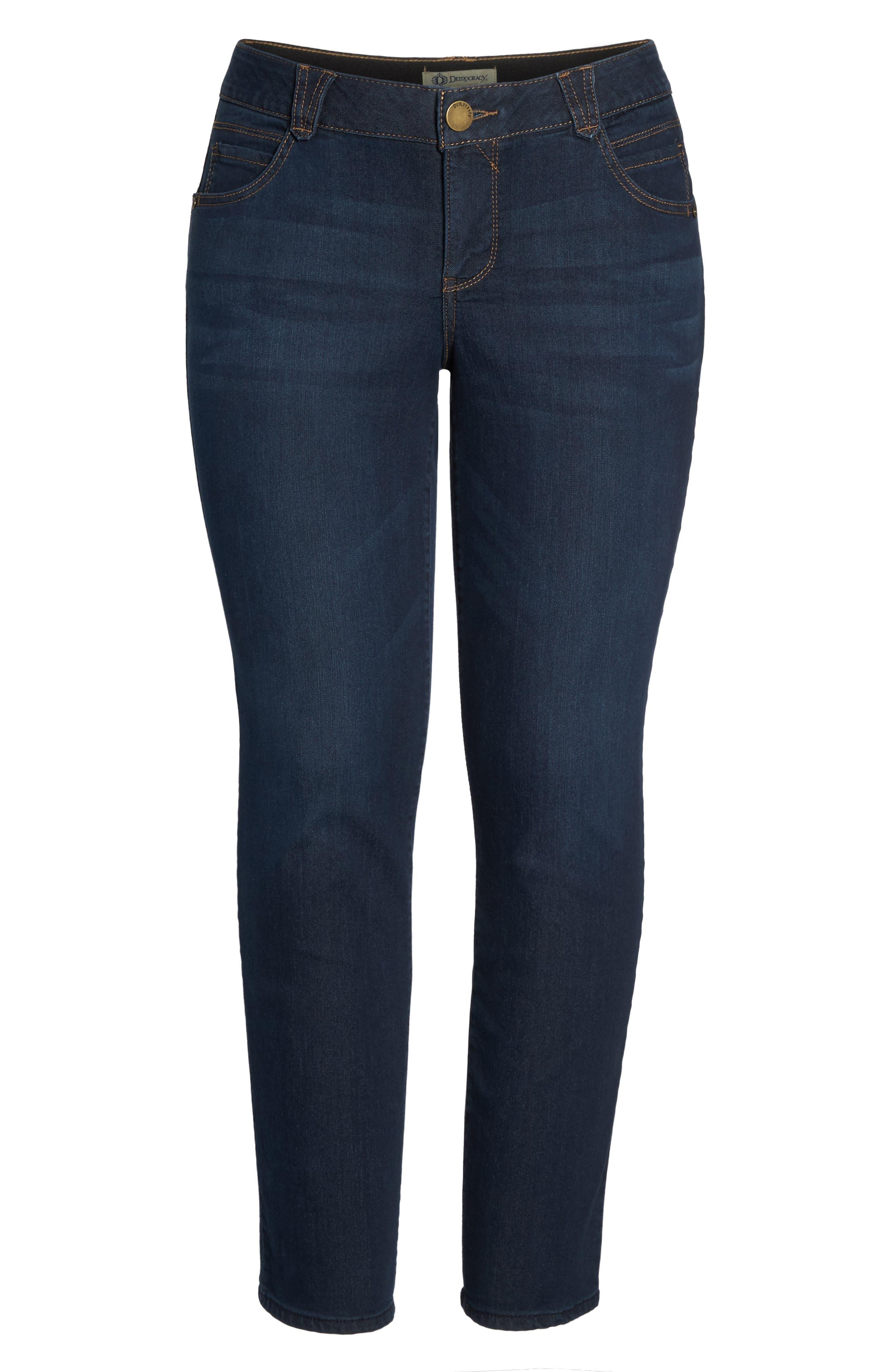 Ab-Solution Stretch Straight Leg Jeans,                             Alternate thumbnail 6, color,                             Indigo