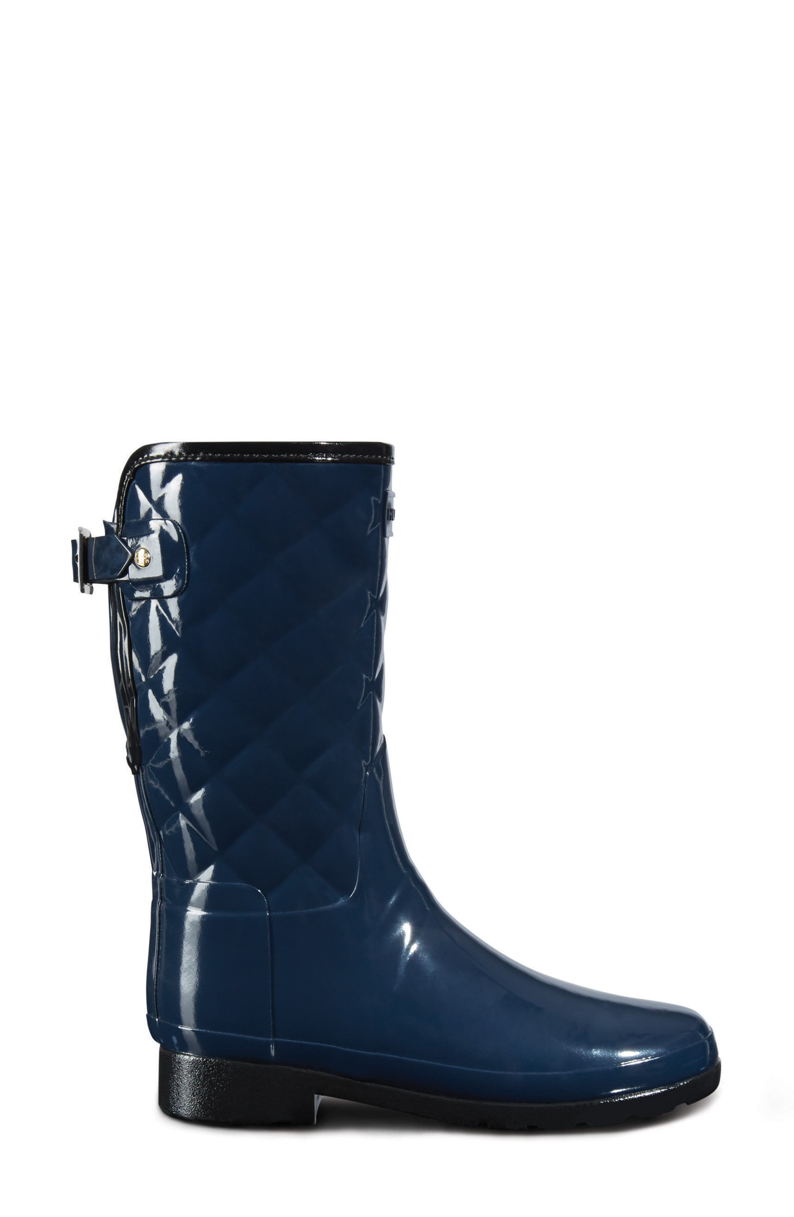 Alternate Image 2  - Hunter Refined High Gloss Quilted Short Rain Boot (Women)