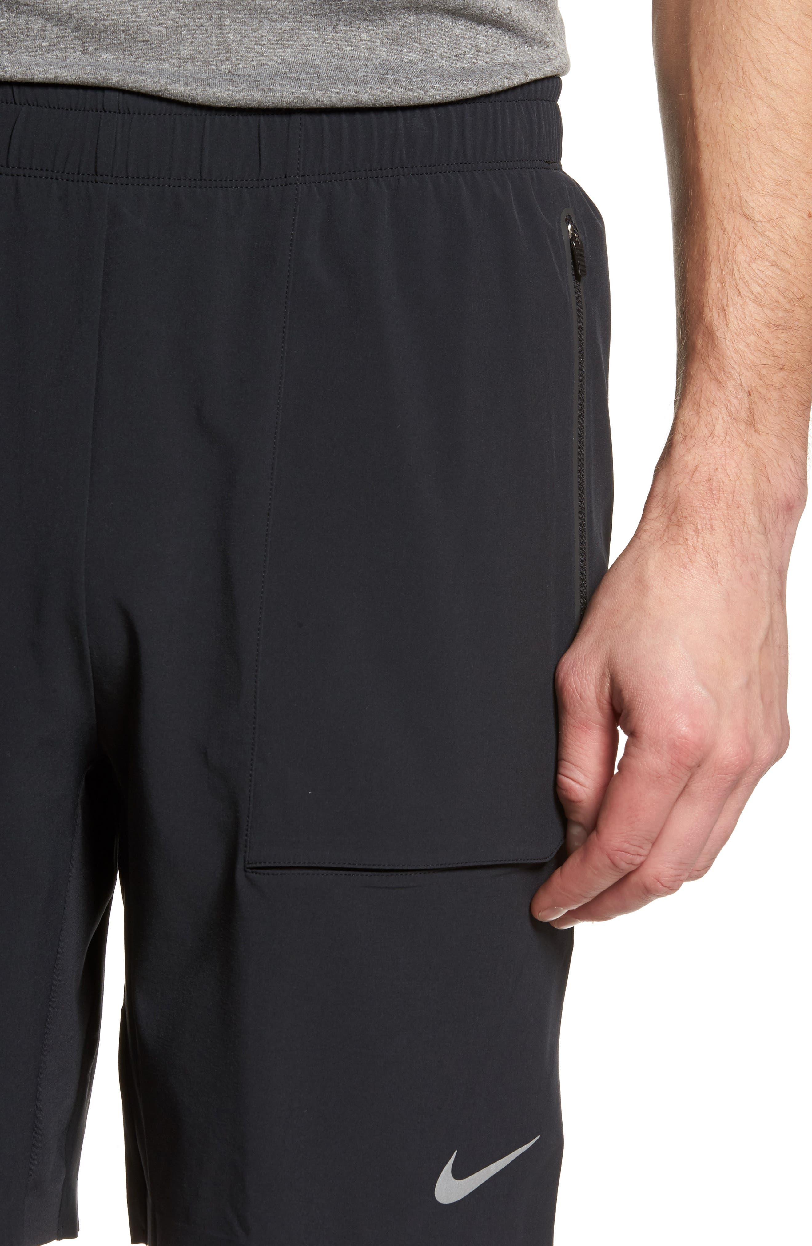 Running Shield Shorts,                             Alternate thumbnail 4, color,                             Black