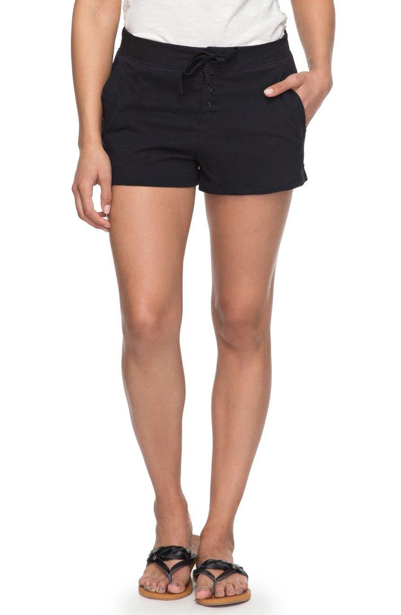 Sunset Pie Cotton Shorts,                         Main,                         color, Anthracite