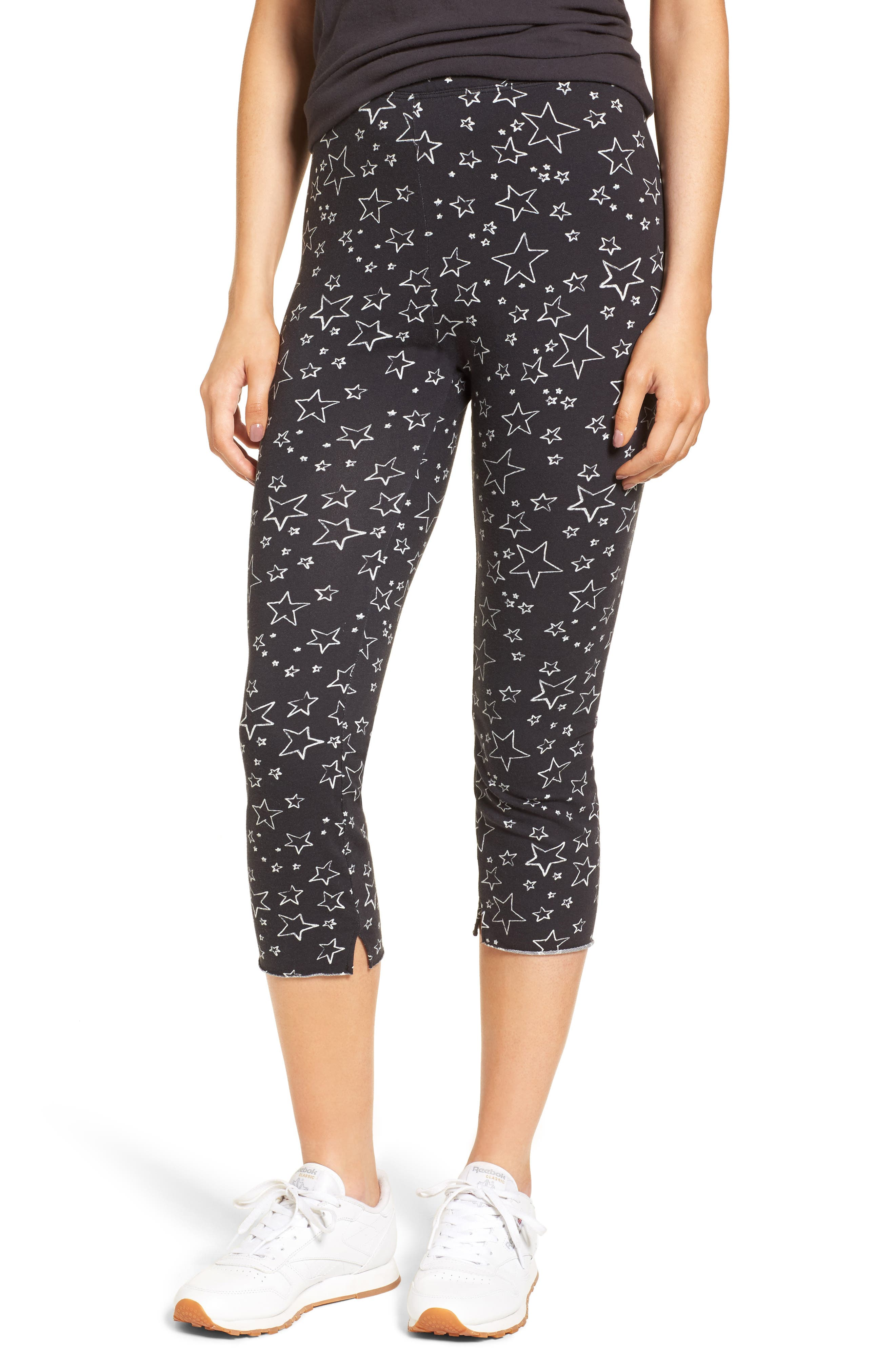 Crop Leggings,                         Main,                         color, Lucky Star Night