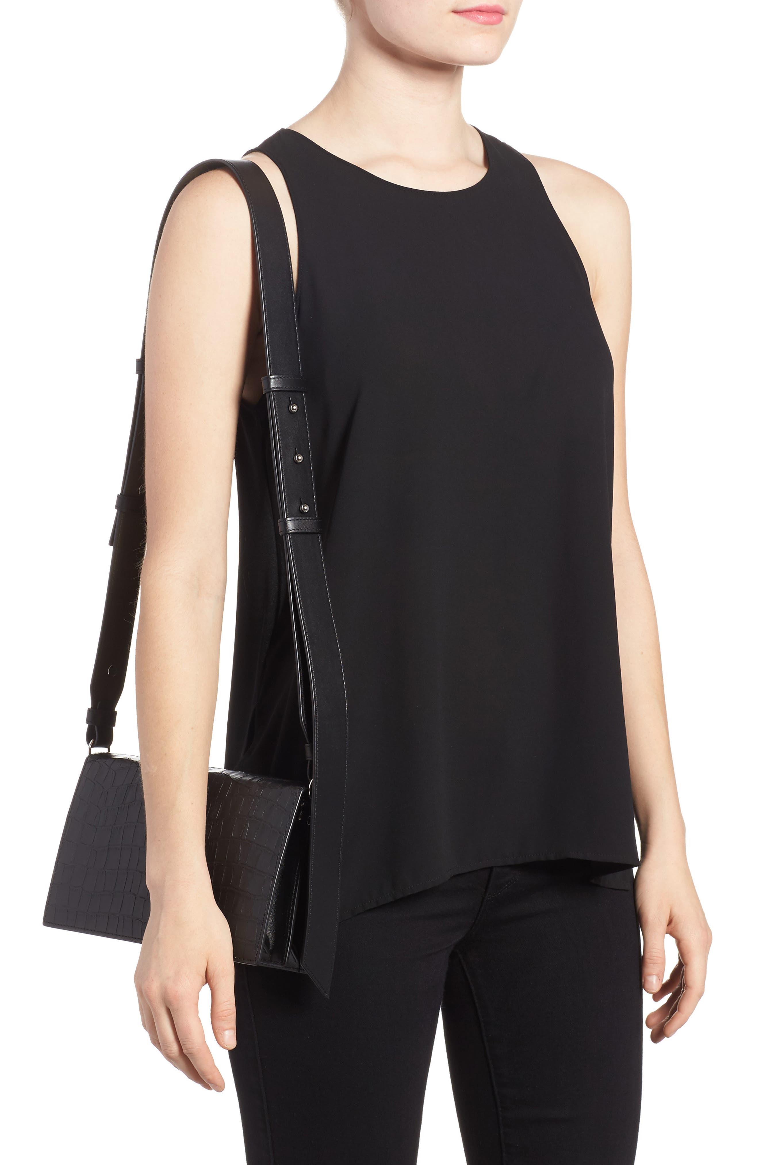 Alternate Image 2  - ALLSAINTS Keel Croc Embossed Leather Box Bag