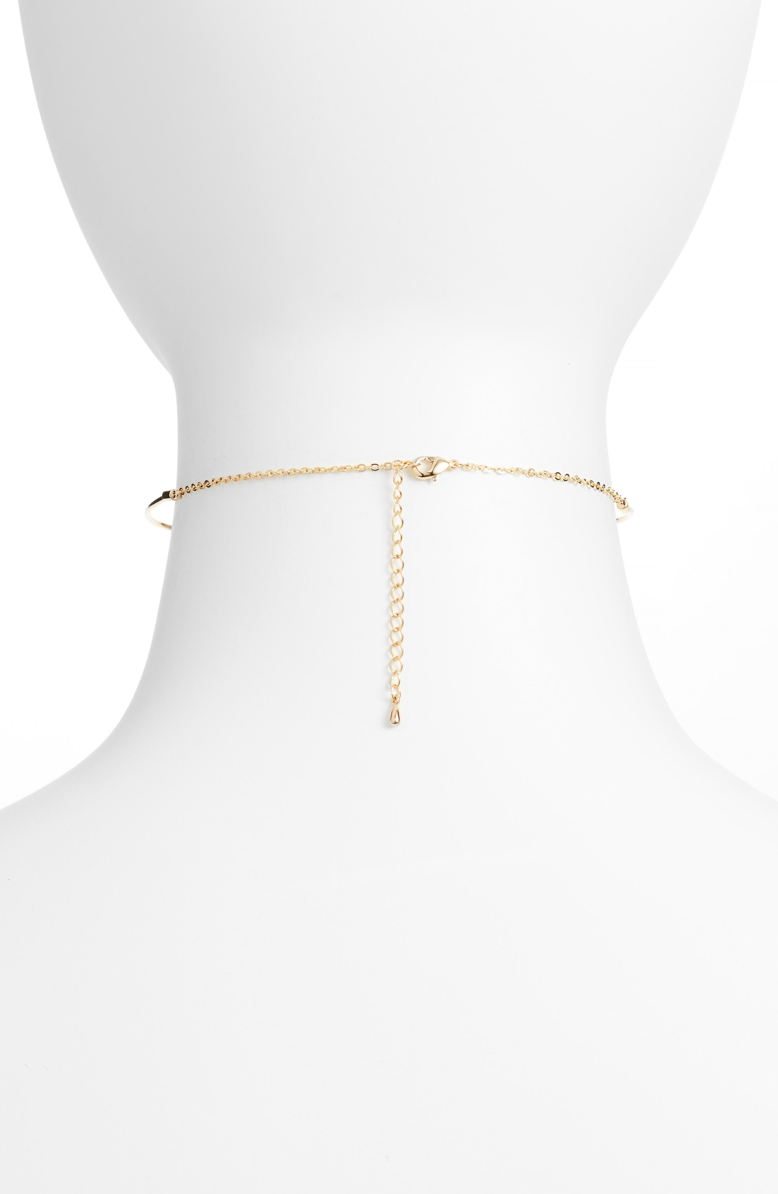 Olivia Wire Choker Necklace,                             Alternate thumbnail 2, color,                             Gold