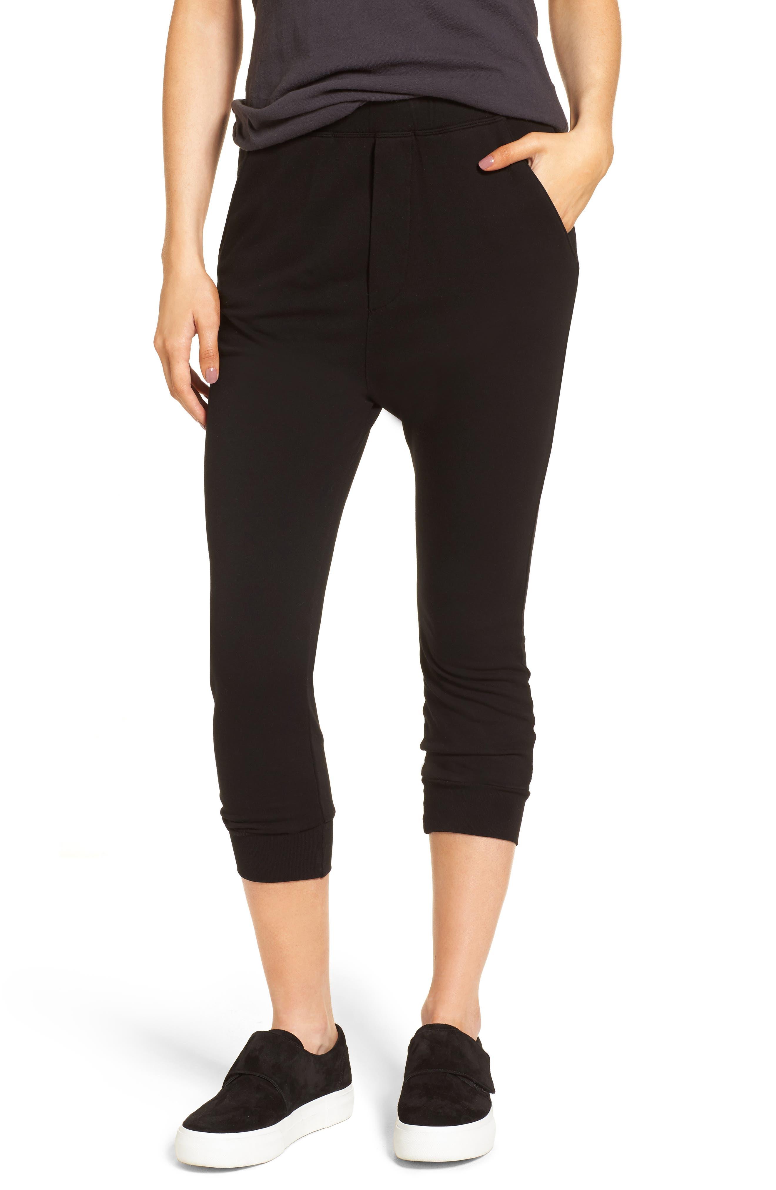 Crop Jogger Pants,                         Main,                         color, Blackout