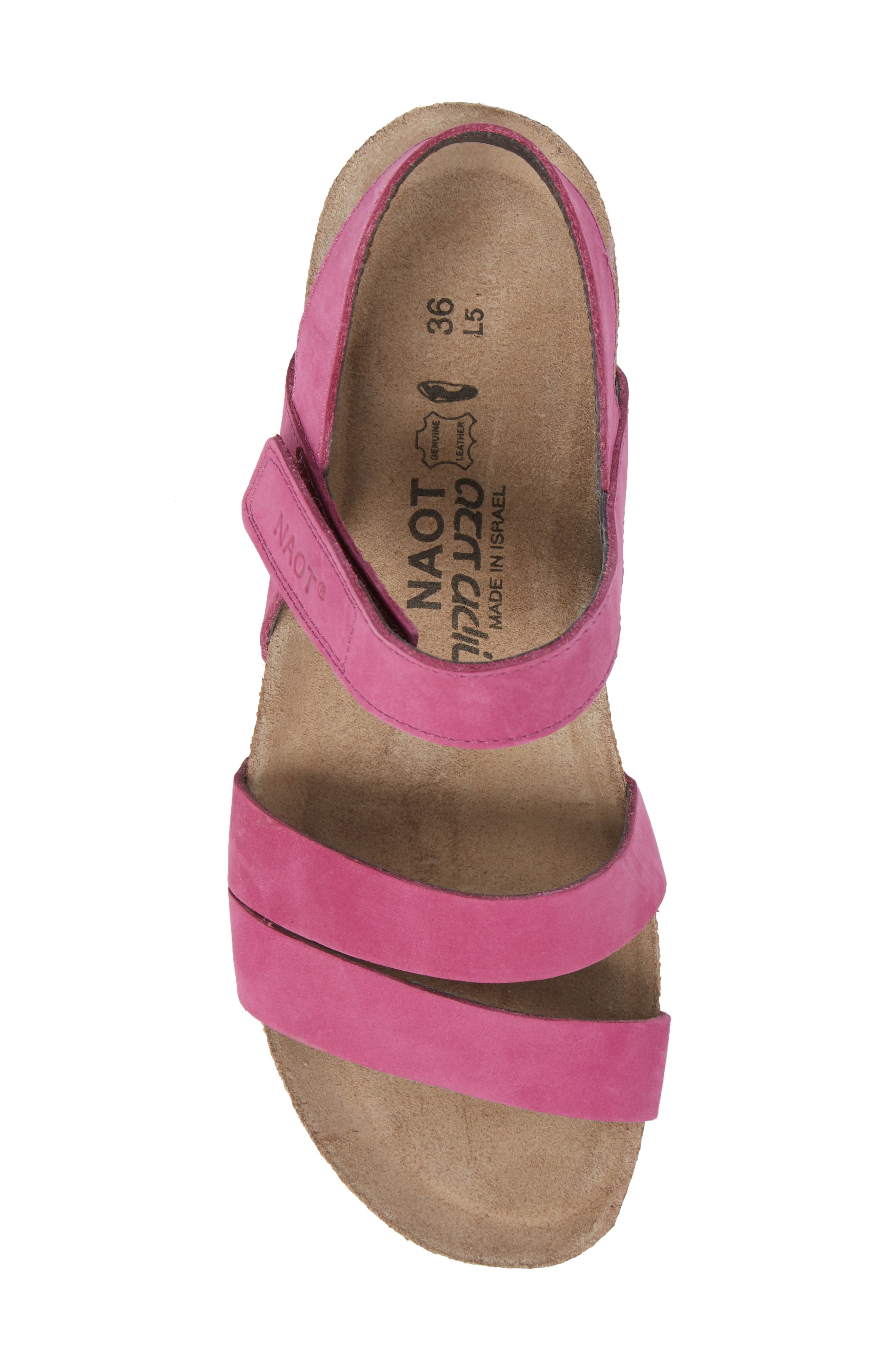 'Kayla' Sandal,                             Alternate thumbnail 5, color,                             Pink Plum Nubuck