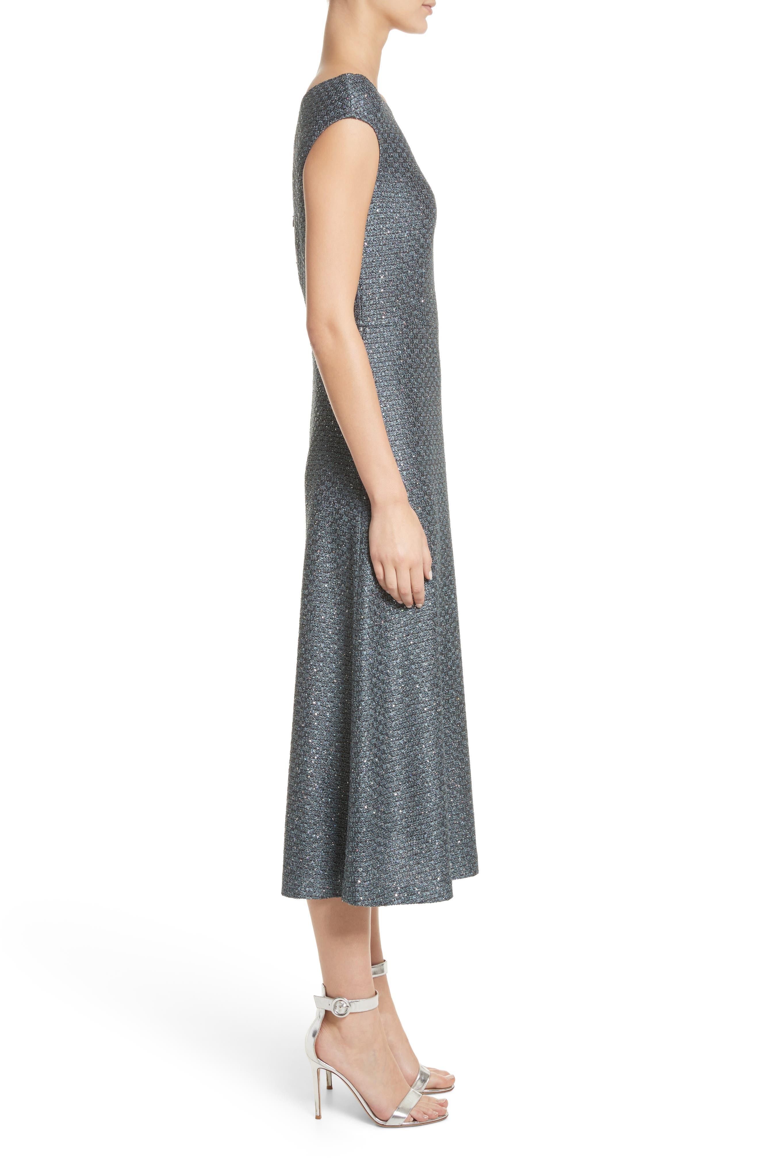 Alternate Image 3  - St. John Collection Sequin Knit Midi Dress