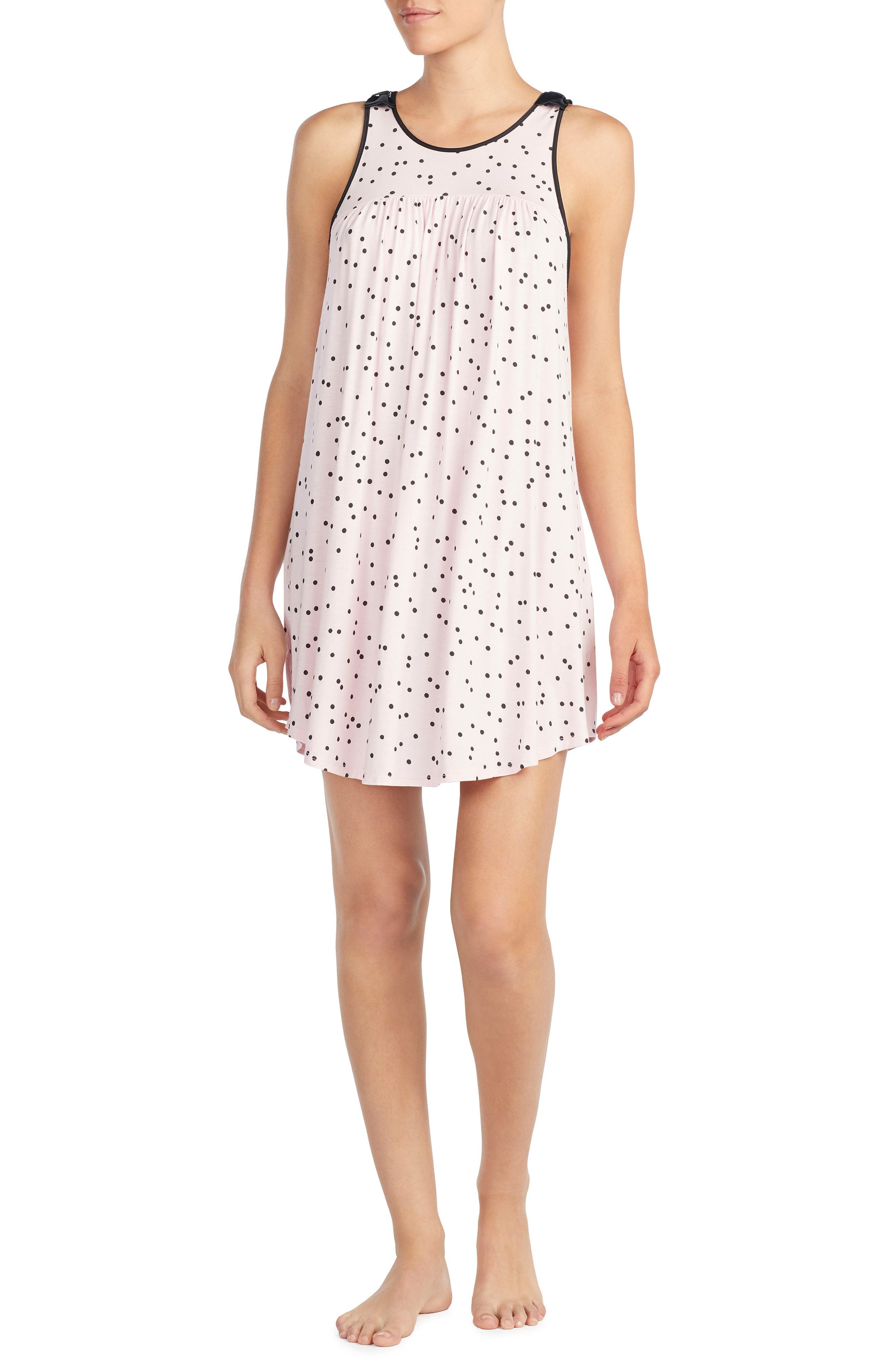 jersey chemise,                             Main thumbnail 1, color,                             Scattered Dot Pink