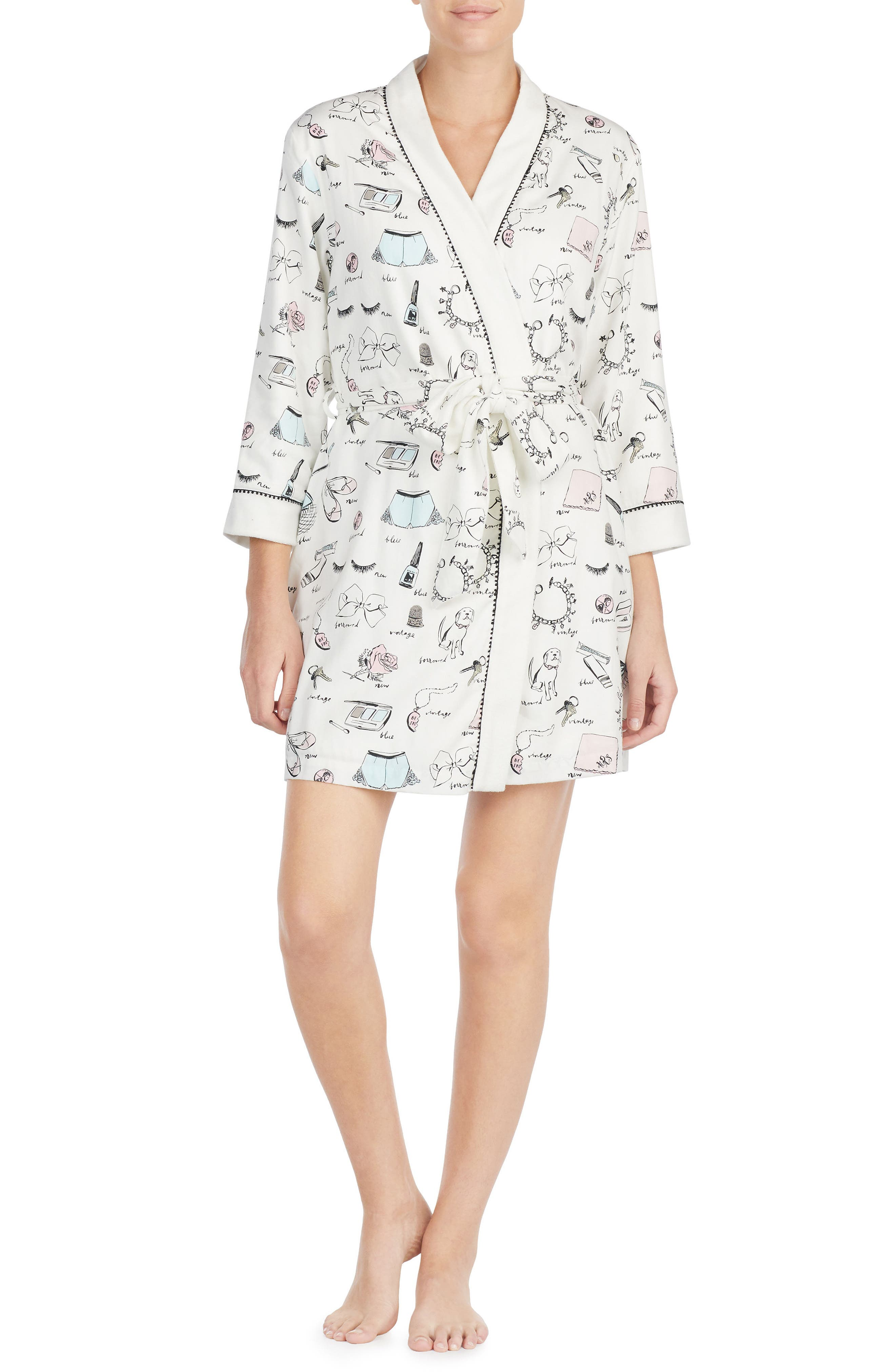 Alternate Image 1 Selected - kate spade new york print robe