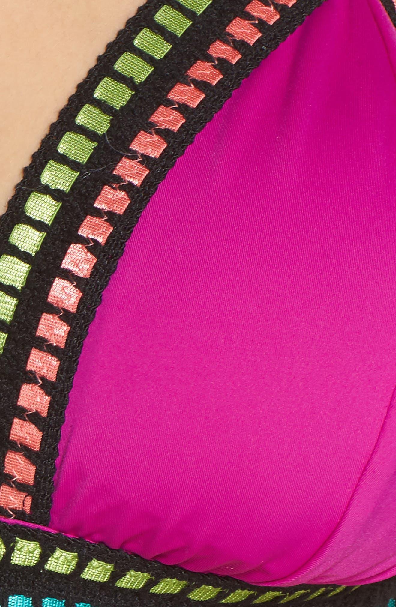 Alternate Image 5  - La Blanca Treading Along Triangle Bikini Top