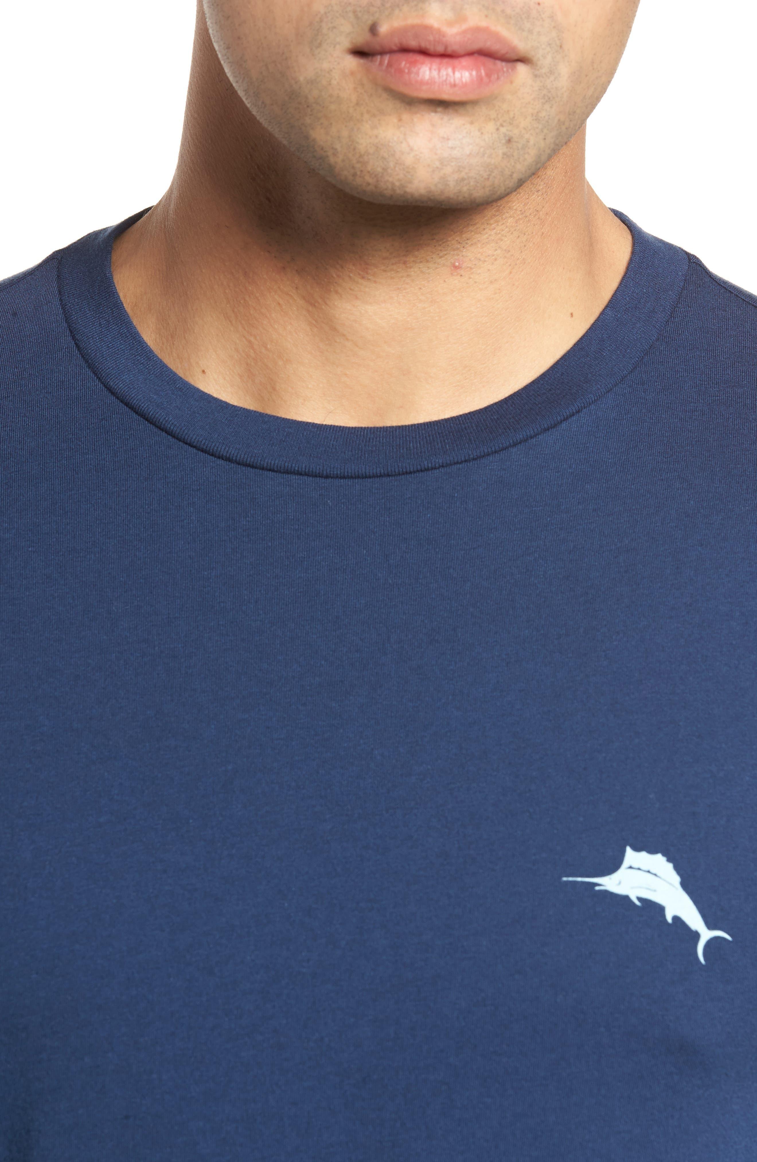 Diamond Isle Graphic T-Shirt,                             Alternate thumbnail 4, color,                             Navy