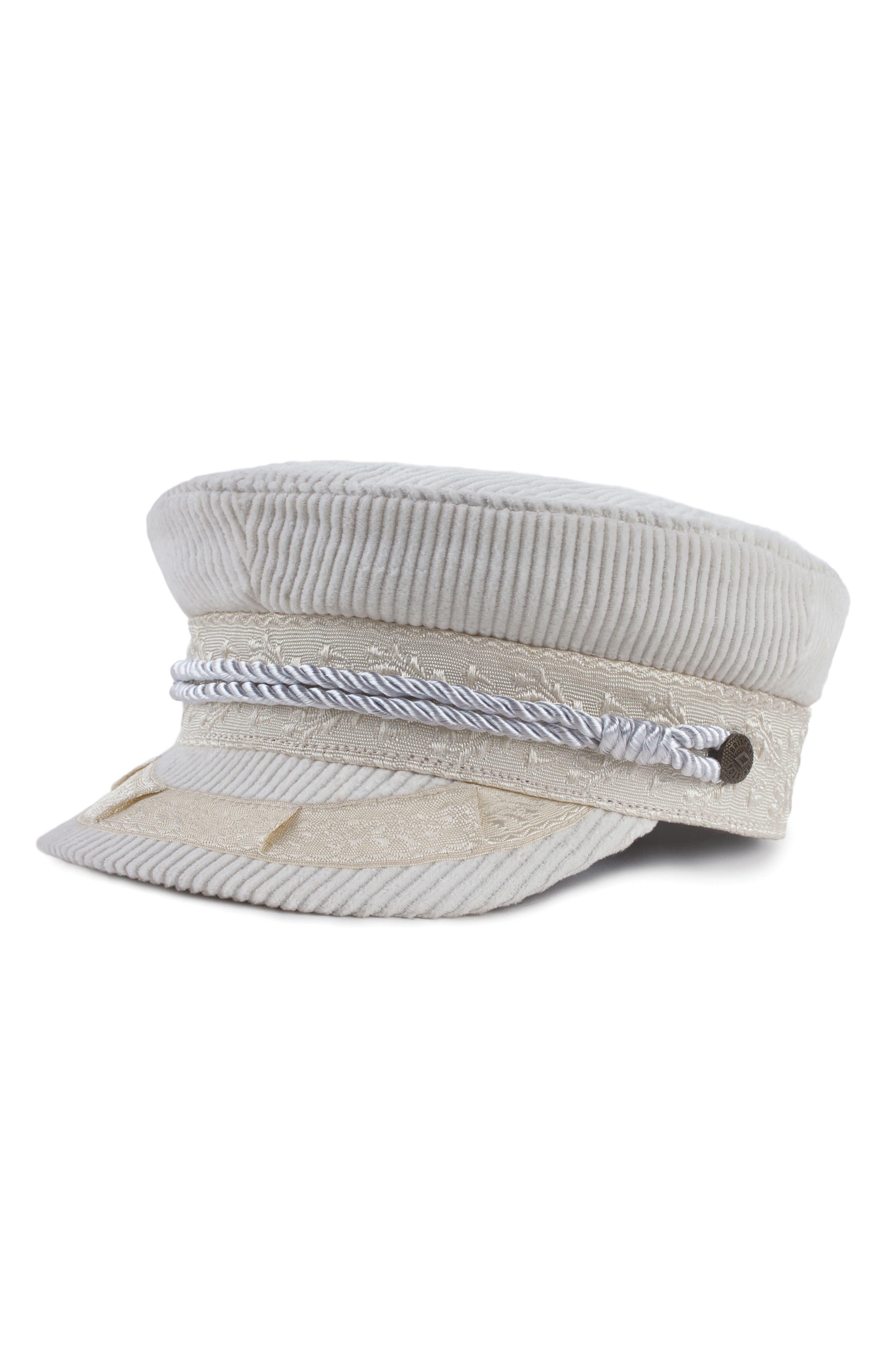 ALBANY CORDUROY FISHERMAN CAP - WHITE