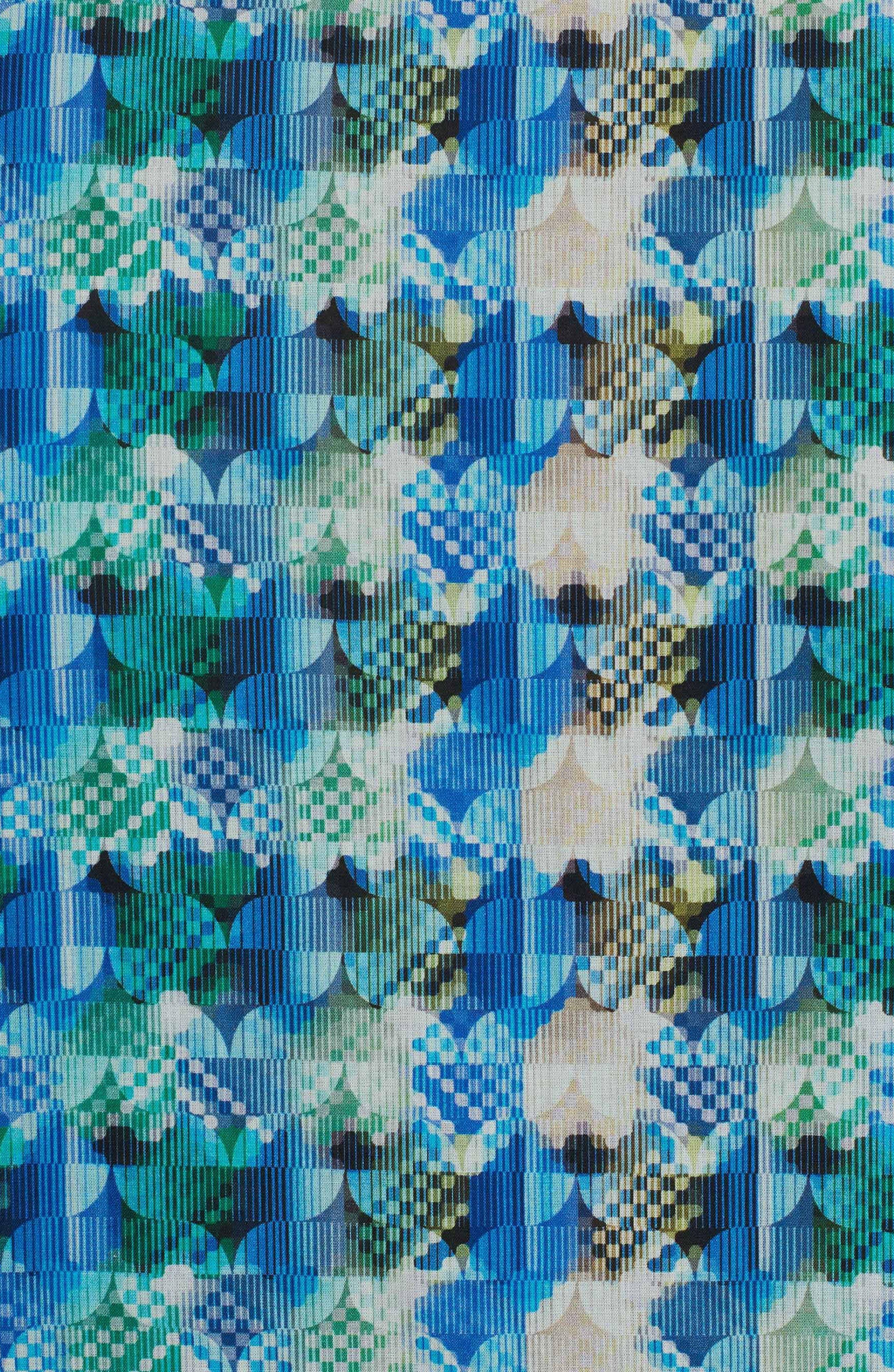 Illusions Sport Shirt,                             Alternate thumbnail 6, color,                             Turquoise