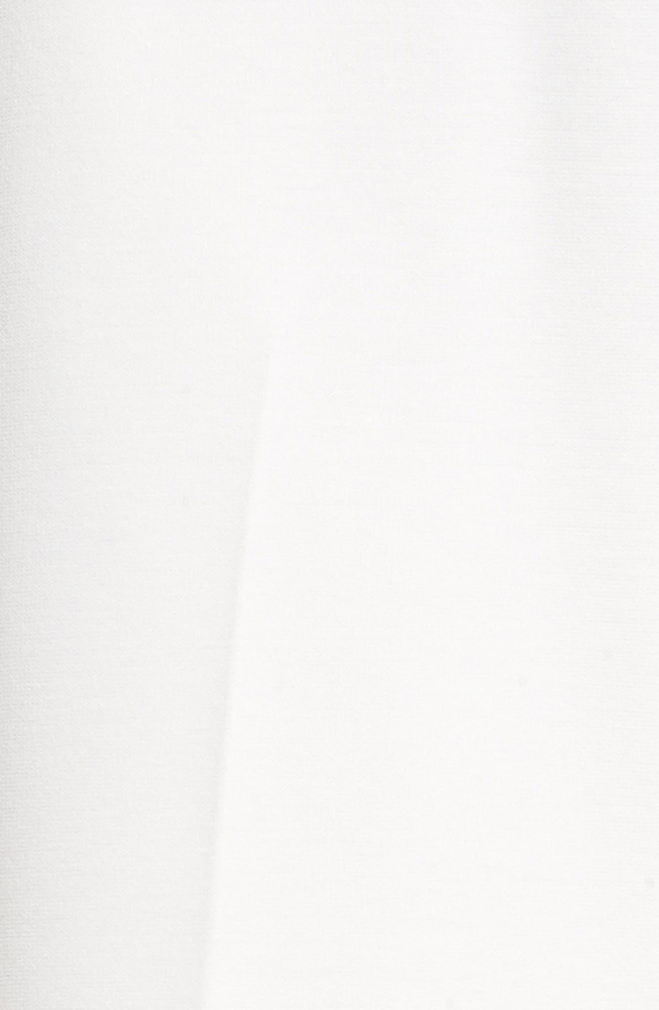 Crop Ponte Knit Sailor Pants,                             Alternate thumbnail 5, color,                             New Ivory