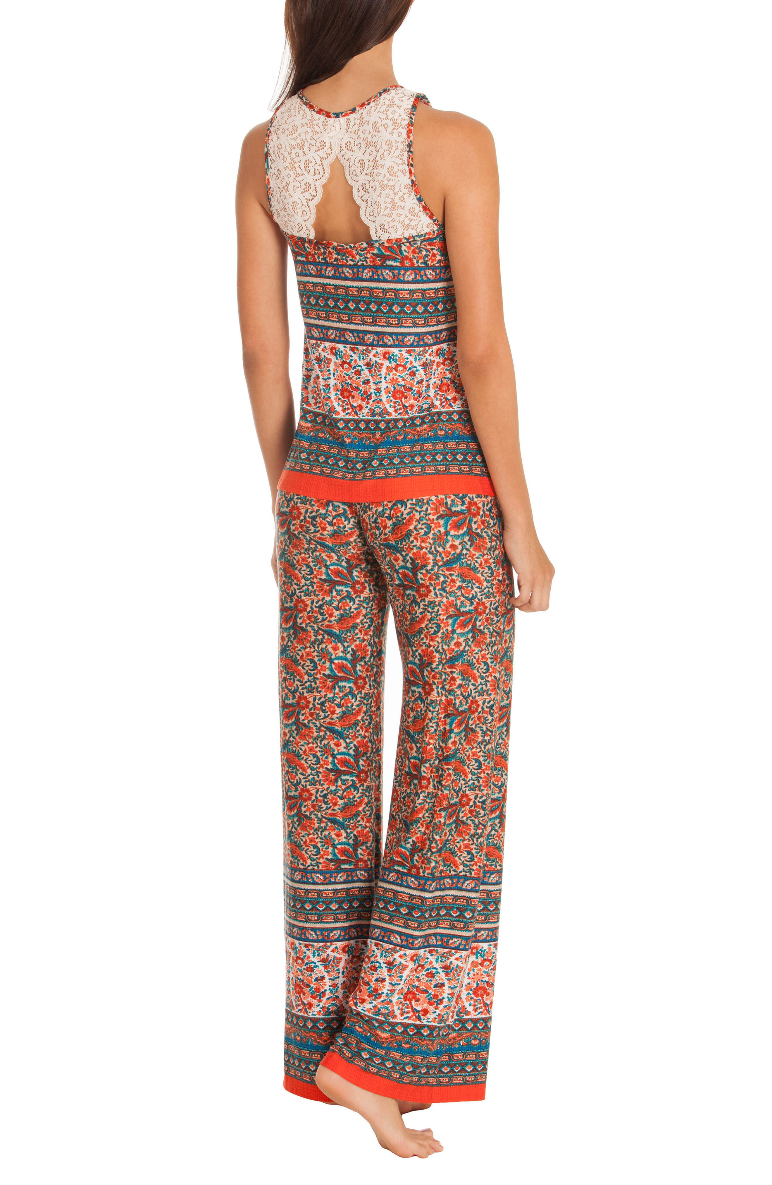 Print Pajamas,                             Alternate thumbnail 2, color,                             Folkloric Floral