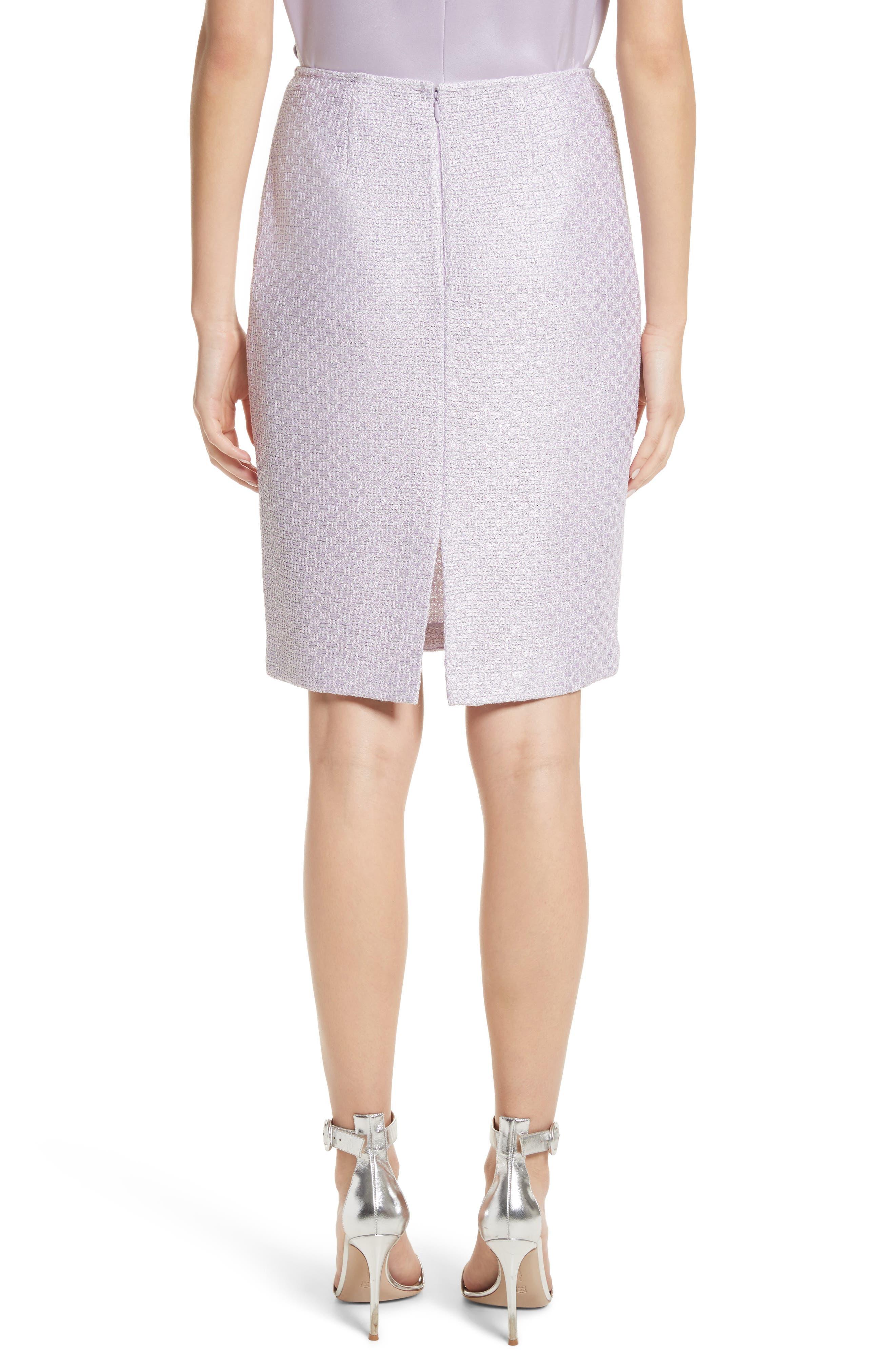 Hansh Sequin Knit Pencil Skirt,                             Alternate thumbnail 2, color,                             Lilac Multi