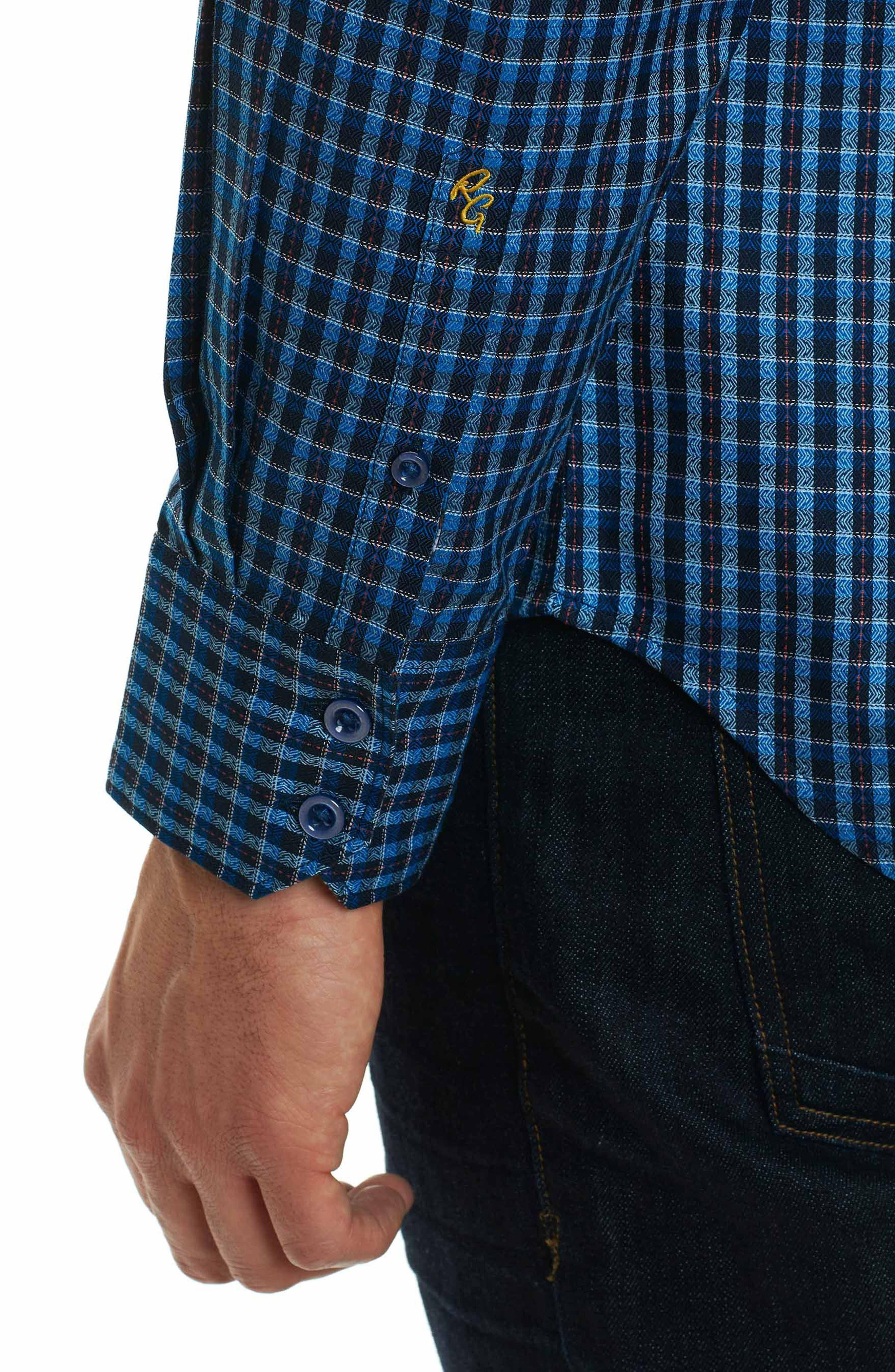 Matira Classic Fit Check Sport Shirt,                             Alternate thumbnail 6, color,                             Blue