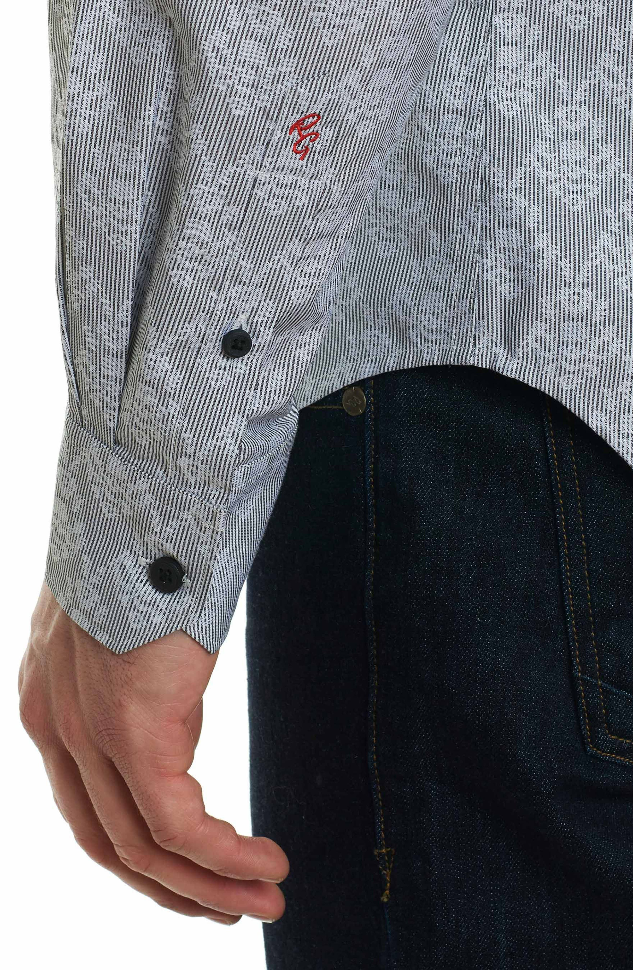 Dynamo Regular Fit Sport Shirt,                             Alternate thumbnail 6, color,                             Grey