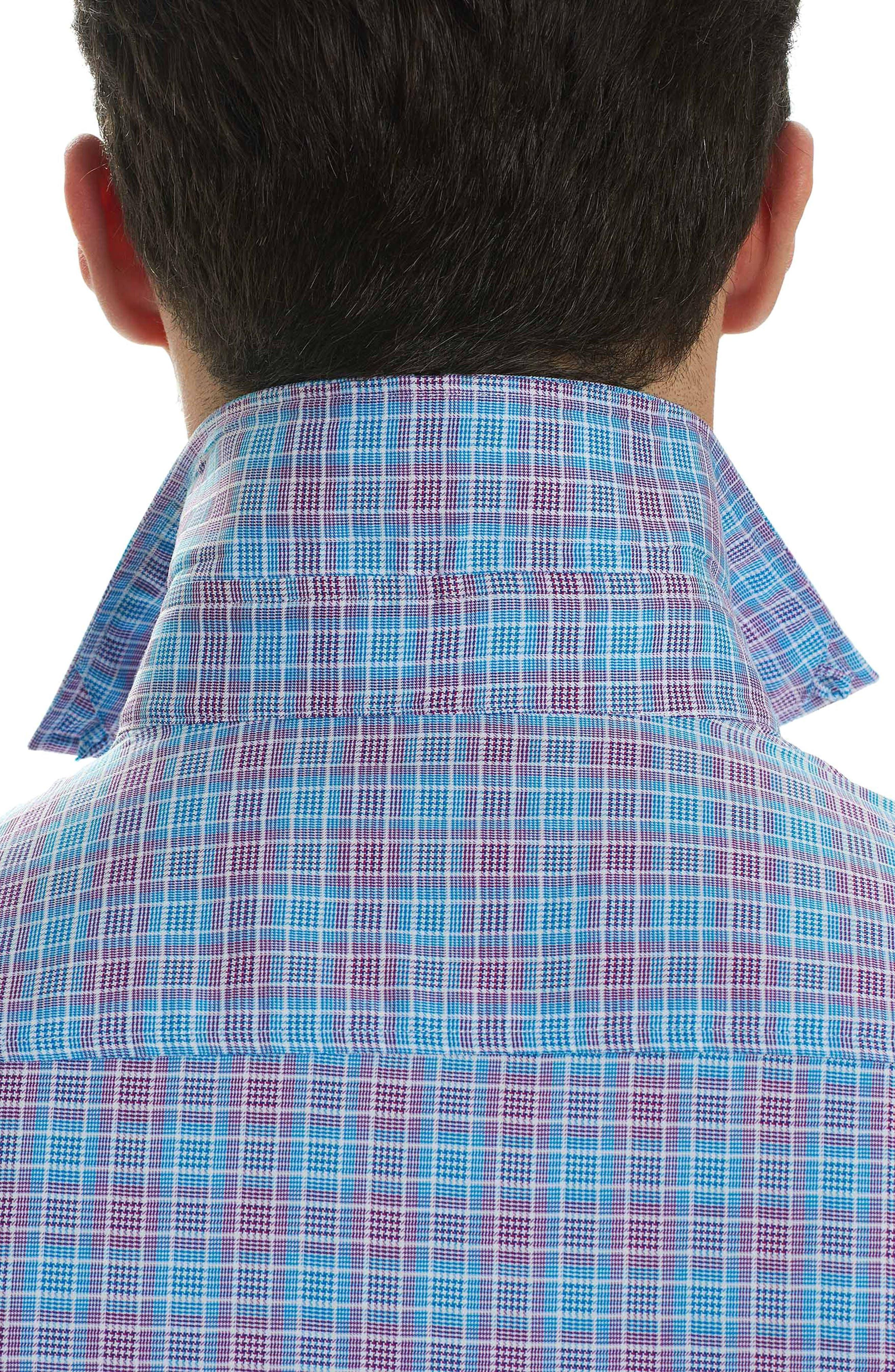 Ryan Regular Fit Sport Shirt,                             Alternate thumbnail 3, color,                             Purple
