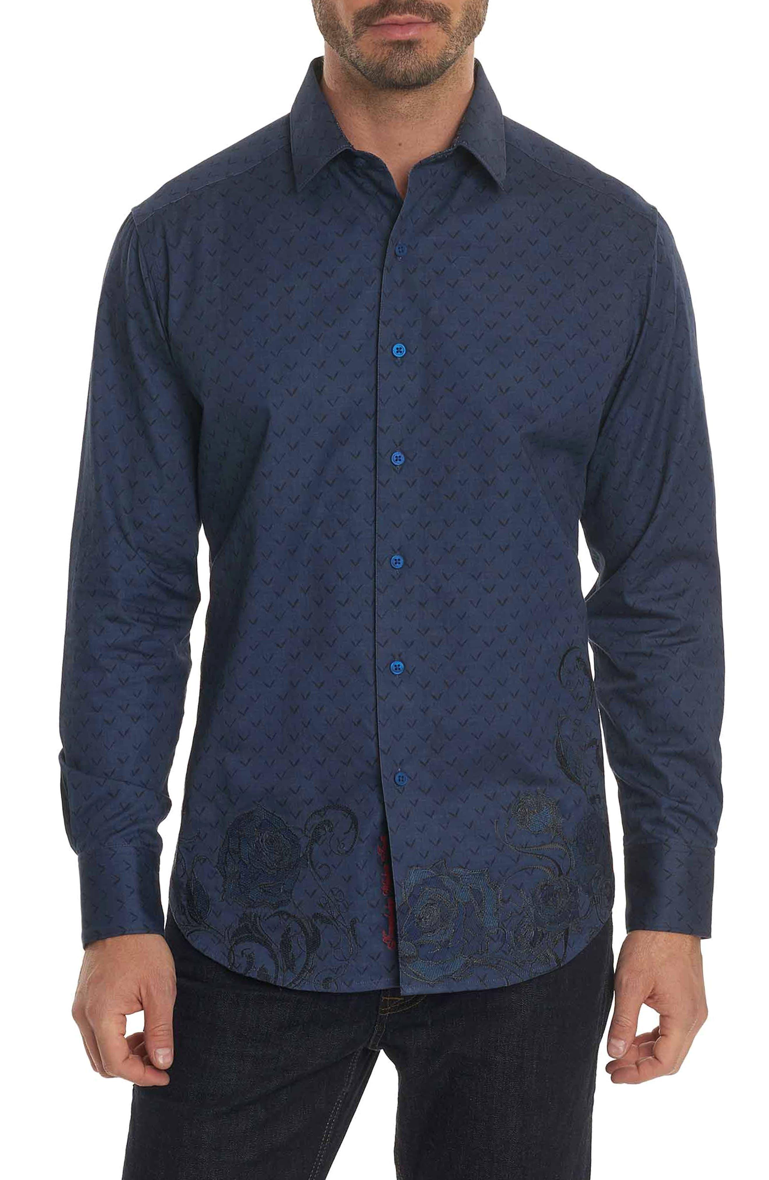 Lionel Classic Fit Sport Shirt,                         Main,                         color, Indigo