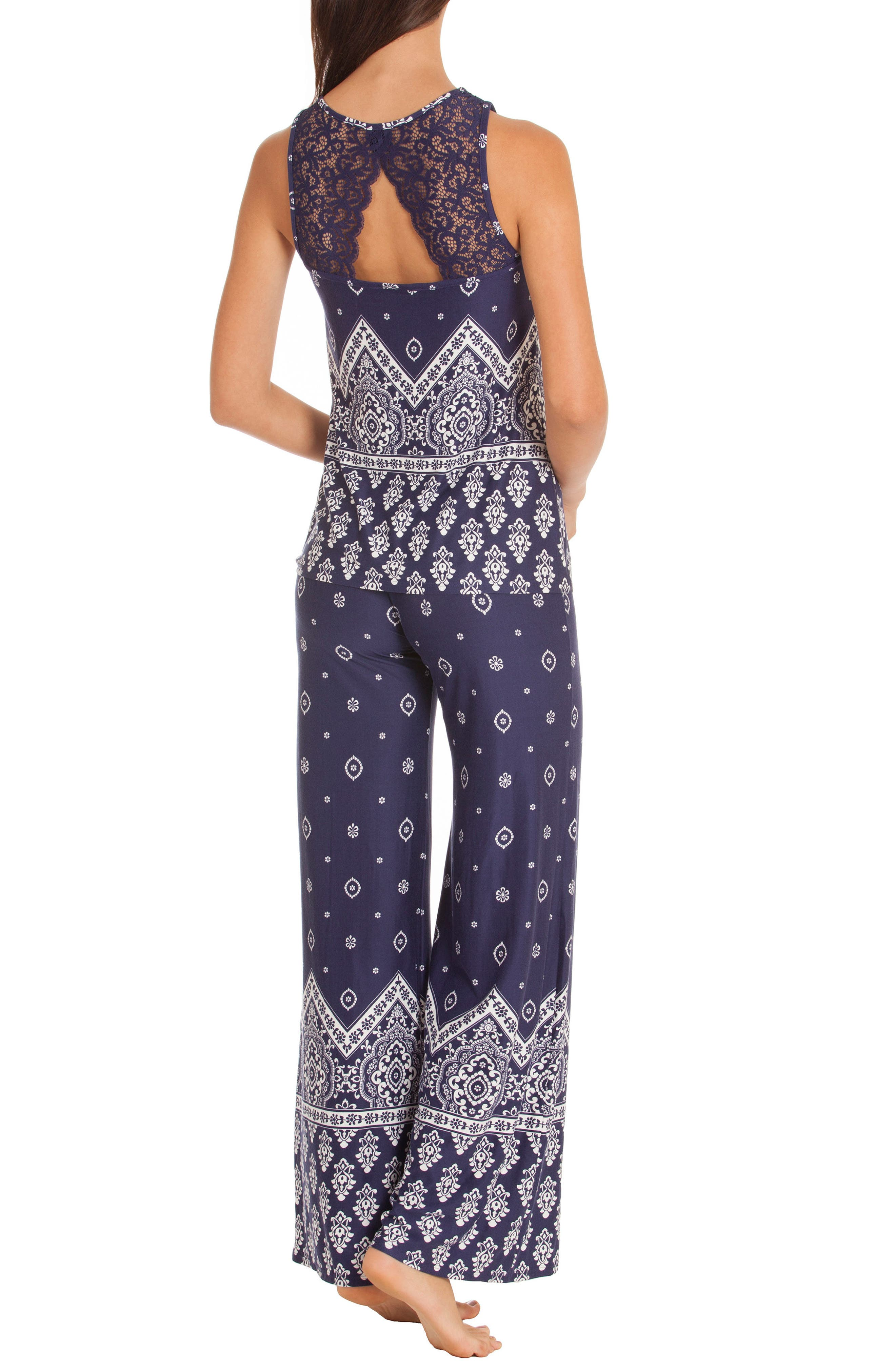 Alternate Image 2  - In Bloom by Jonquil Print Pajamas