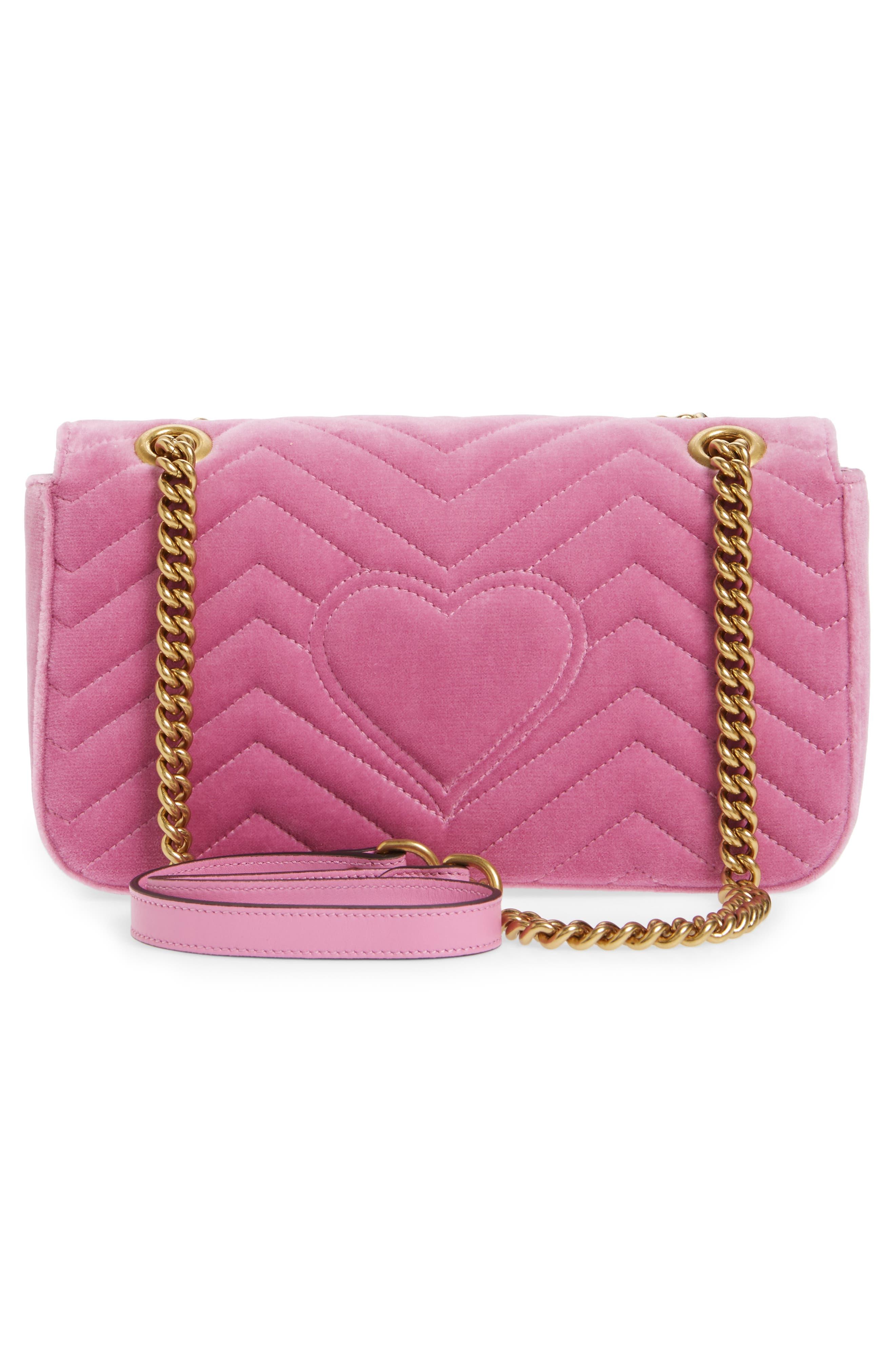 Alternate Image 3  - Gucci GG Marmont 2.0 Crystal Embellished Velvet Crossbody Bag