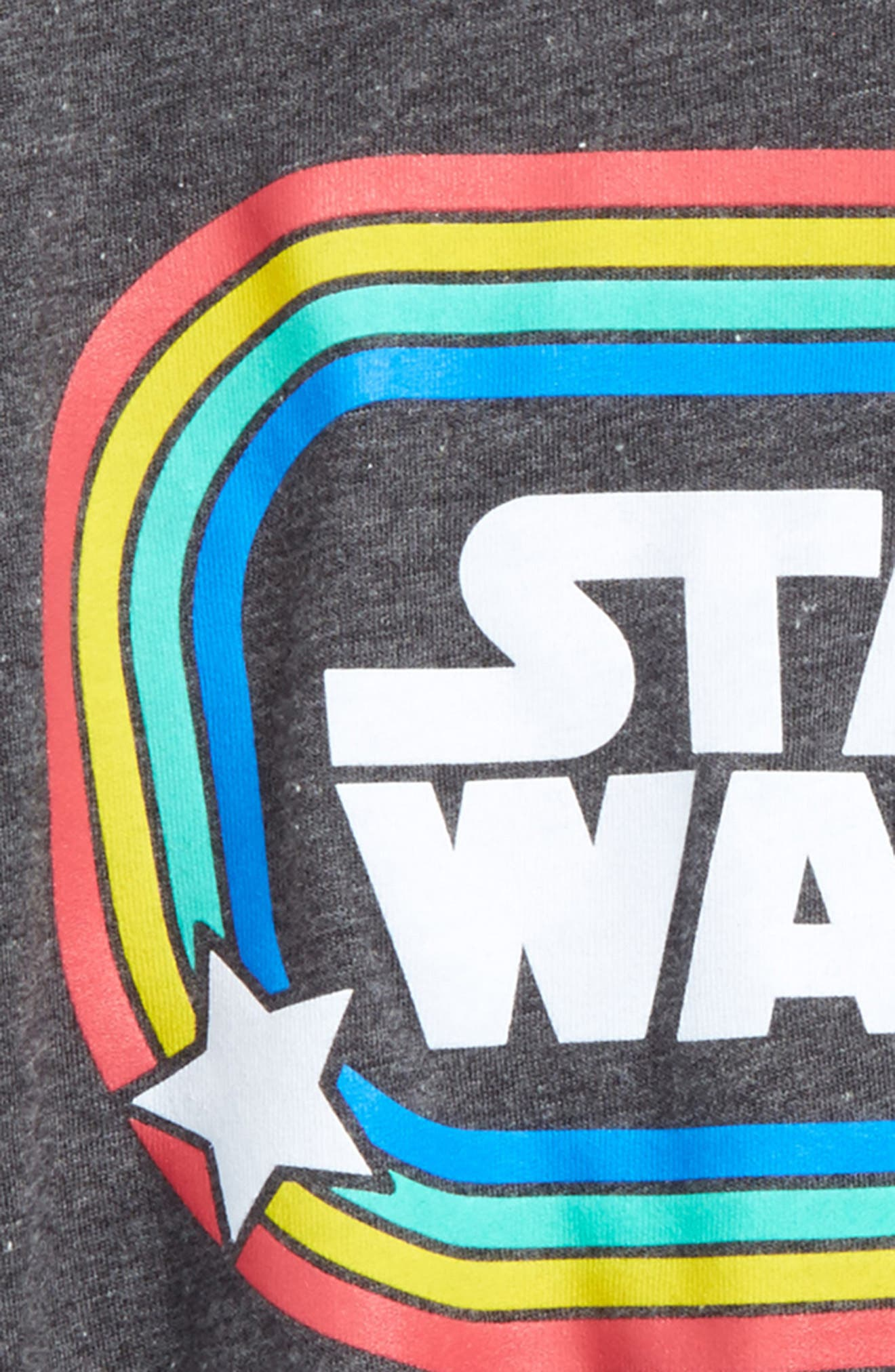 Star Wars<sup>™</sup> Retro Rainbow Graphic Tee,                             Alternate thumbnail 2, color,                             Dark Charcoal