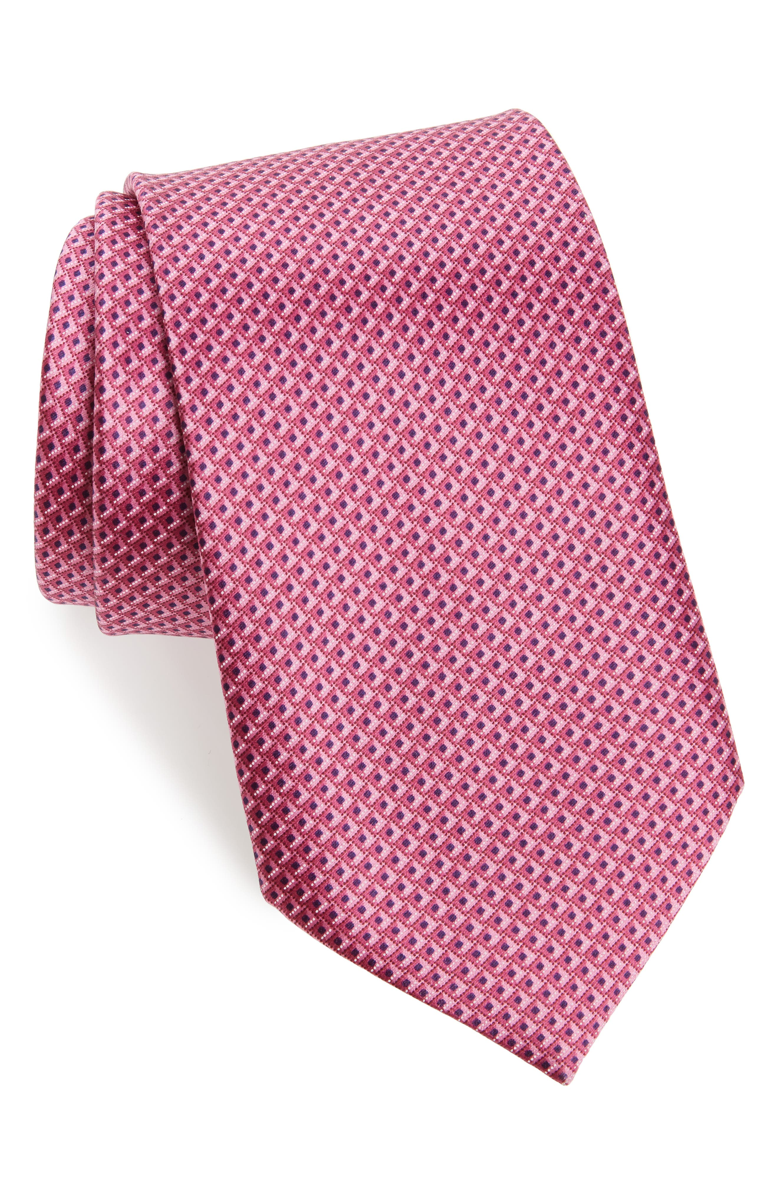 Solid Silk Tie,                             Main thumbnail 1, color,                             Pink