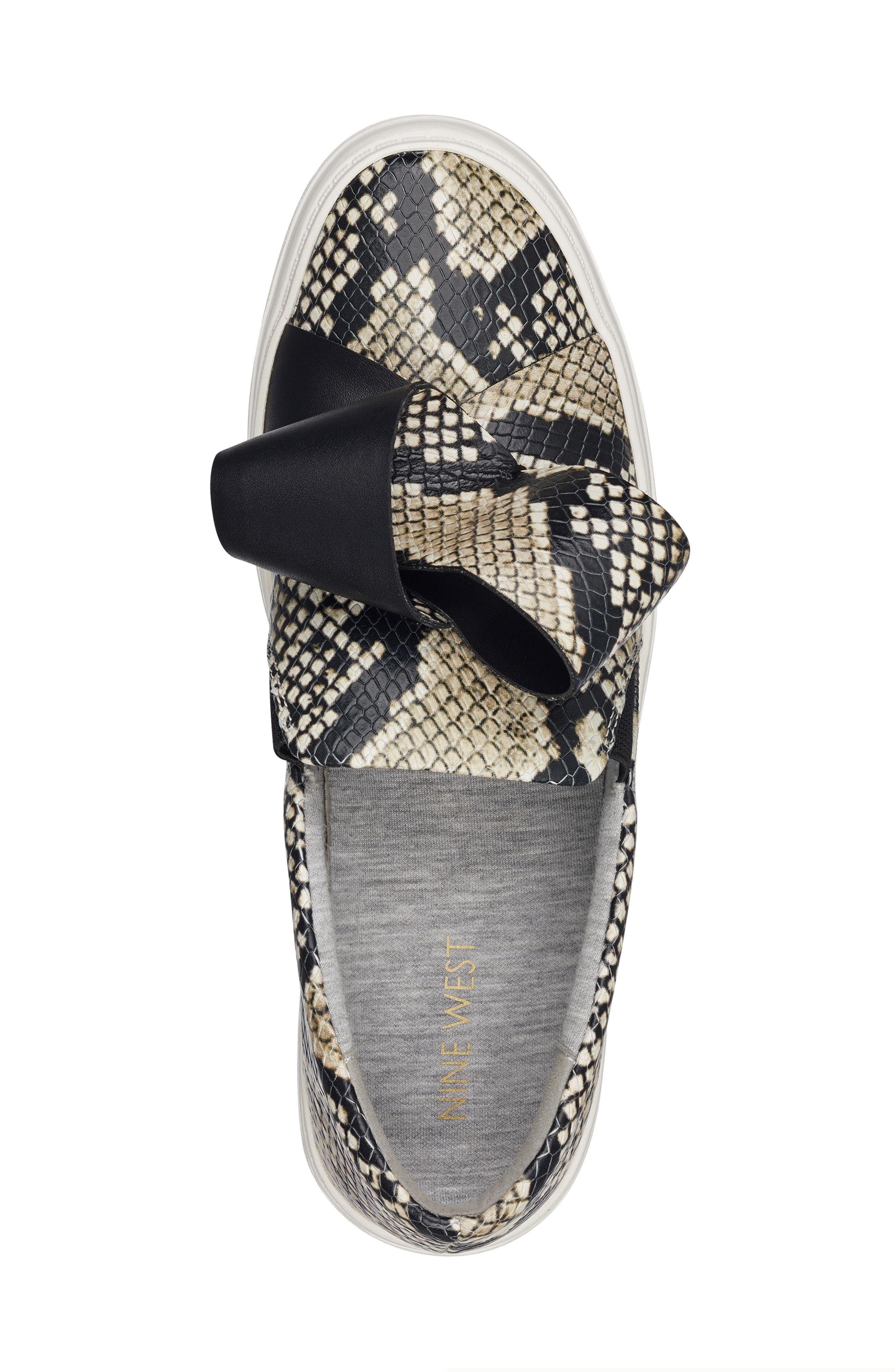 Odienella Slip-On Sneaker,                             Alternate thumbnail 5, color,                             Off White Multi Leather