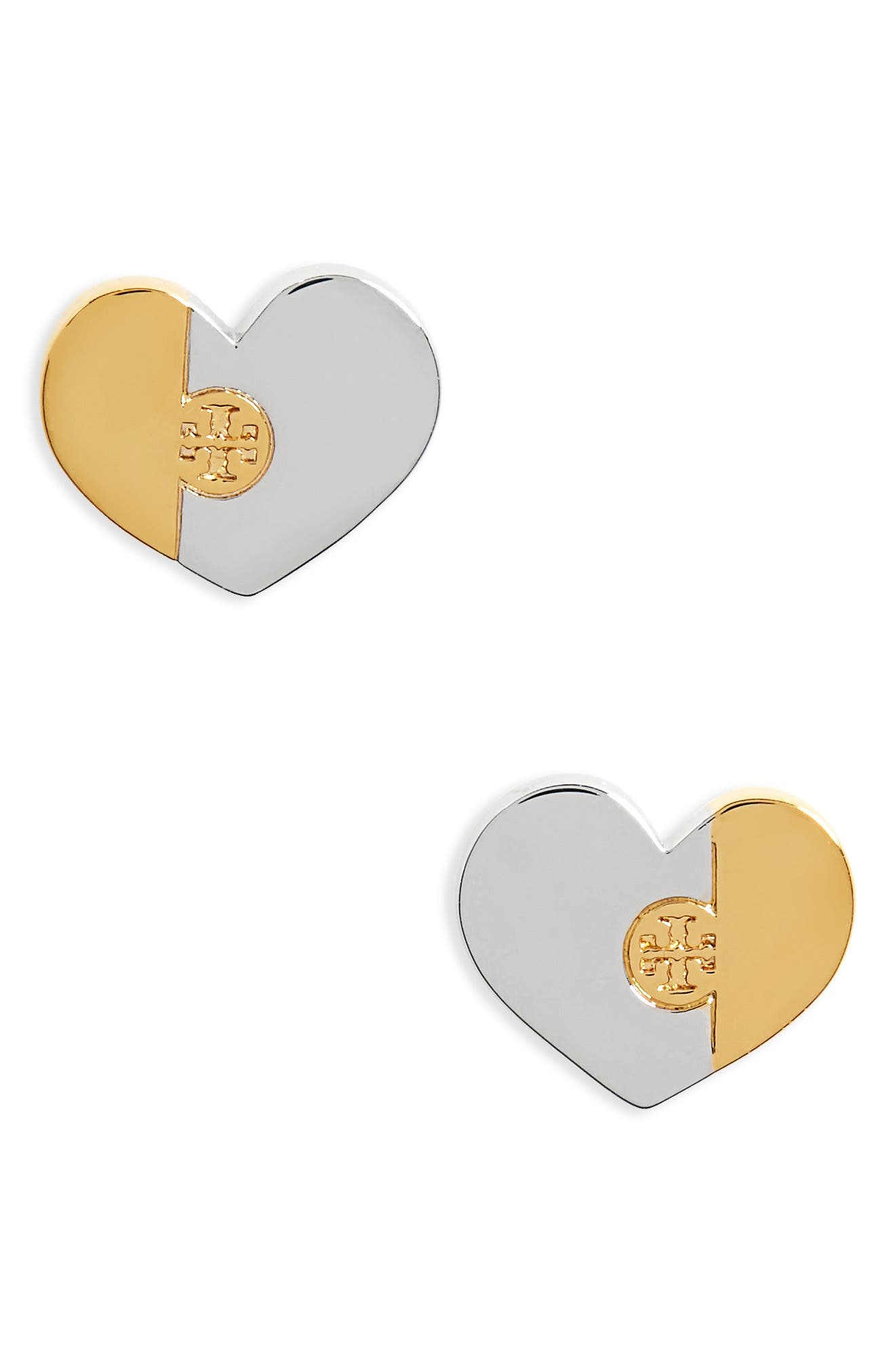 Alternate Image 1 Selected - Tory Burch Puzzle Stud Earrings