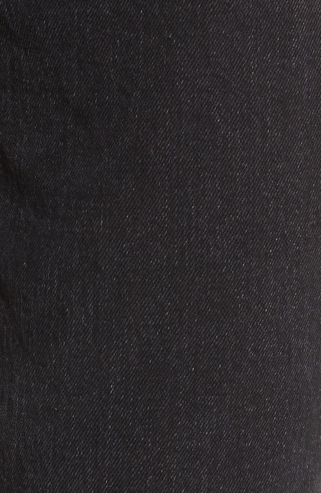 Alternate Image 6  - Treasure & Bond Bond Loose Fit Ankle Skinny Jeans (Black Dark Vintage)