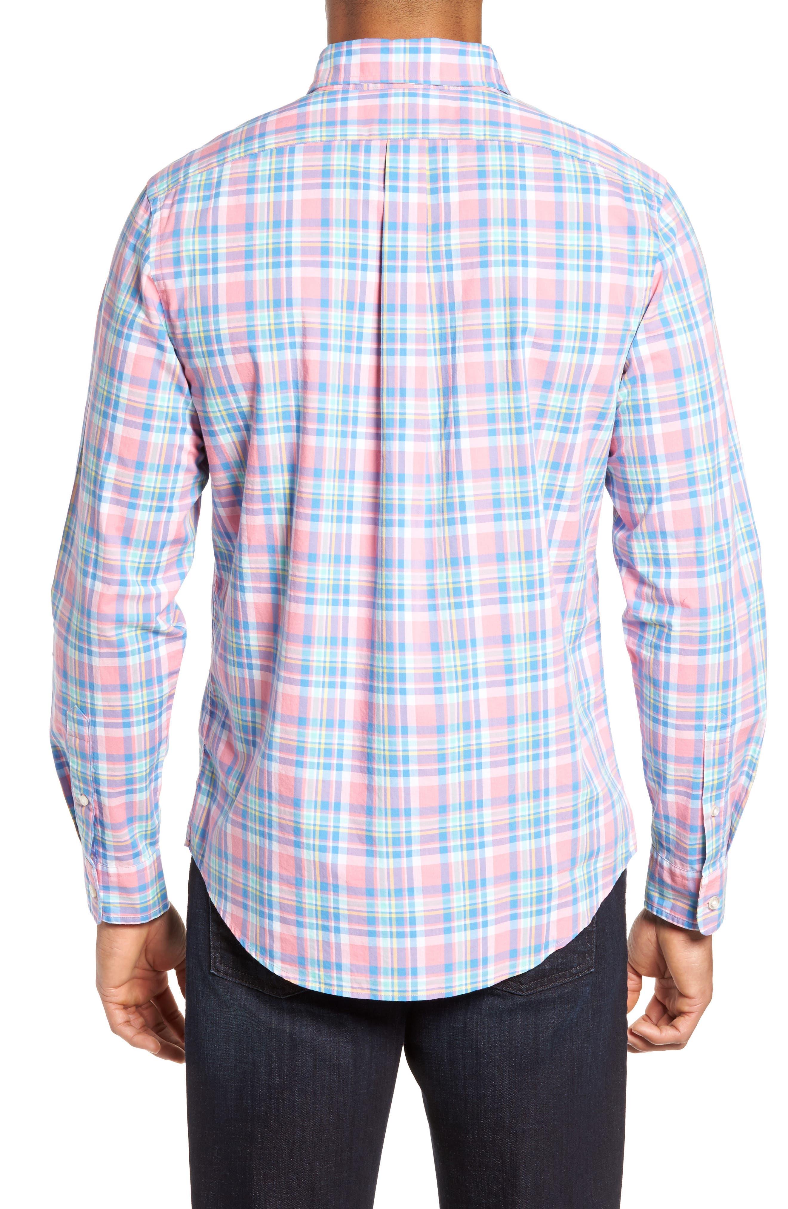 Alternate Image 2  - vineyard vines Cape Haze Tucker Slim Fit Plaid Sport Shirt