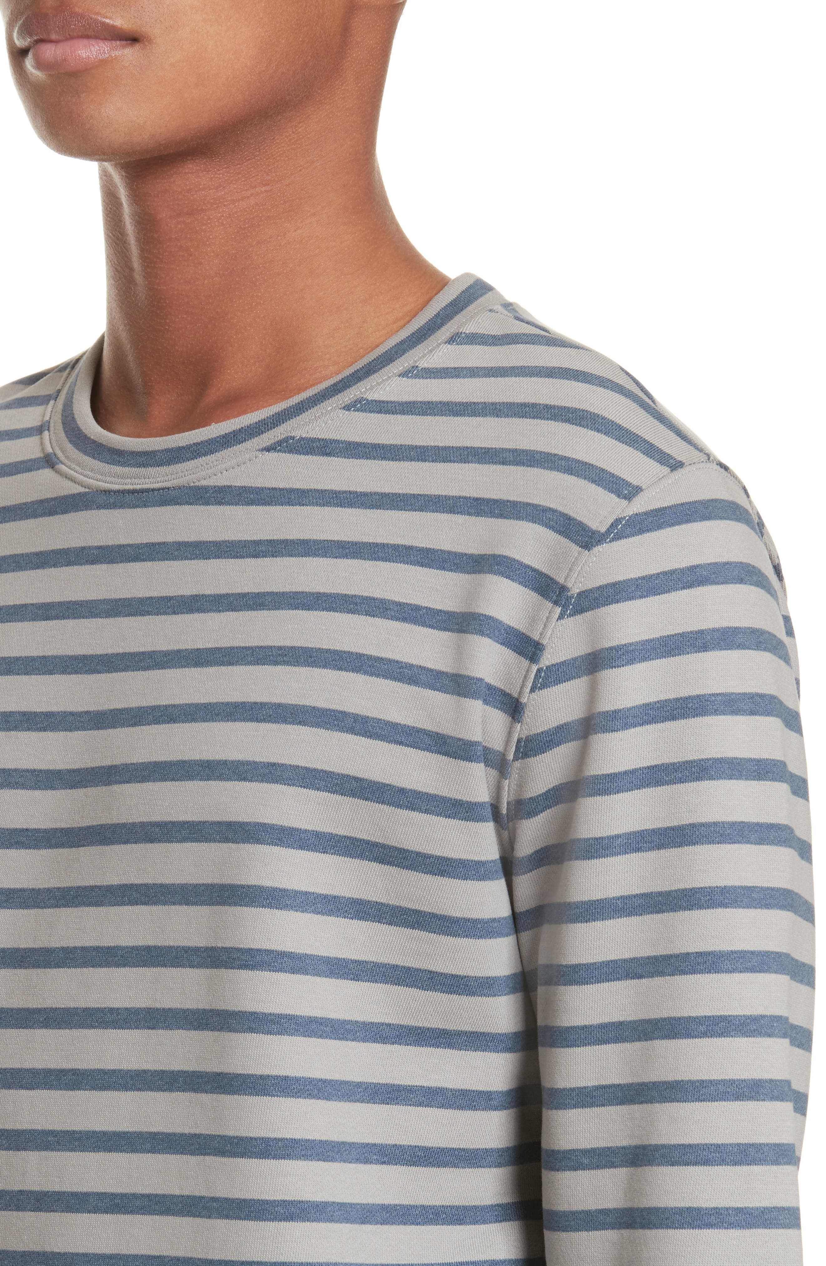 Alternate Image 4  - A.P.C. Albert Stripe Crewneck Sweatshirt
