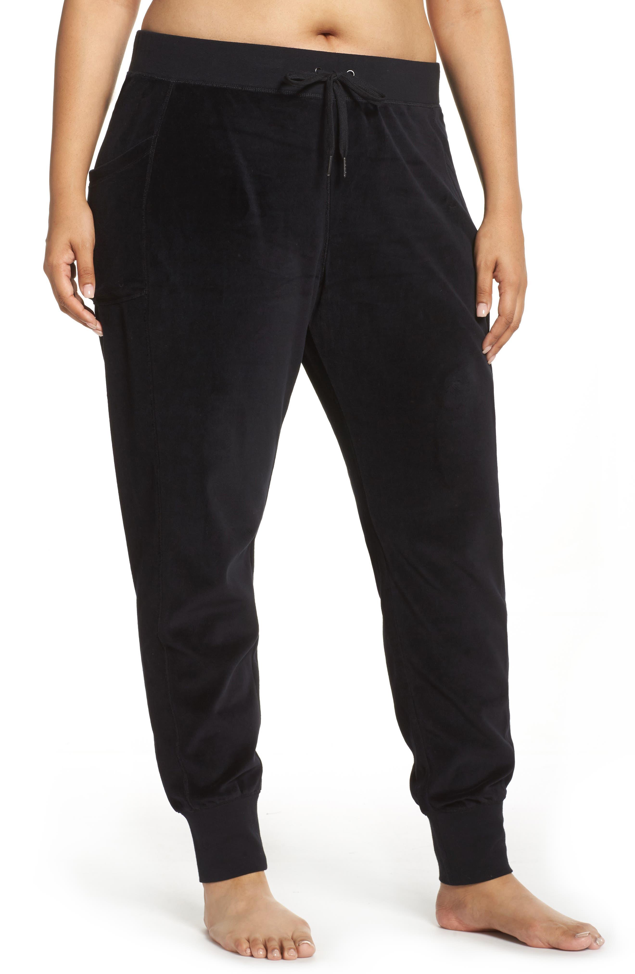 Main Image - Zella Lexi Velour Jogger Pants (Plus Size)