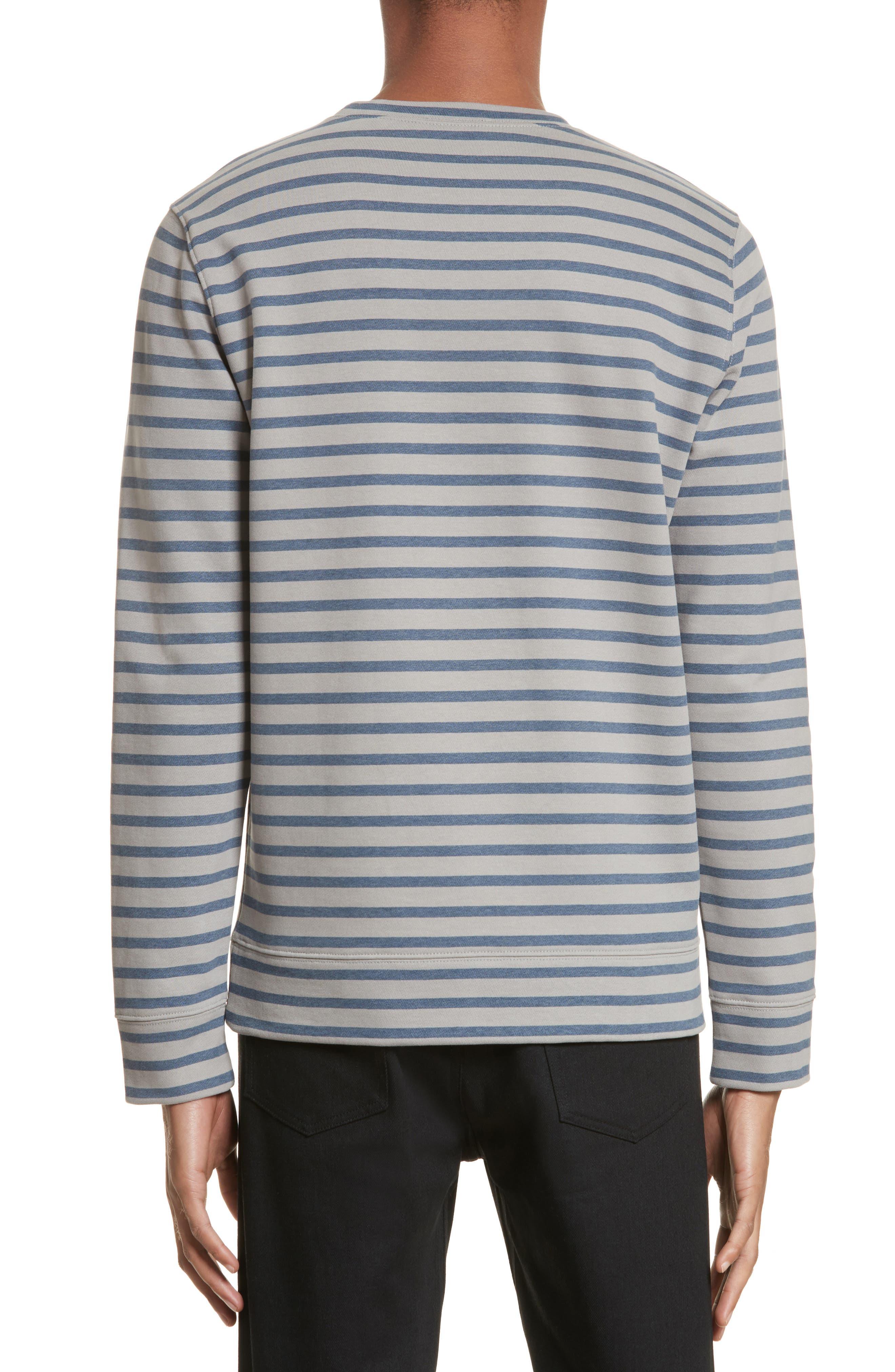 Alternate Image 2  - A.P.C. Albert Stripe Crewneck Sweatshirt