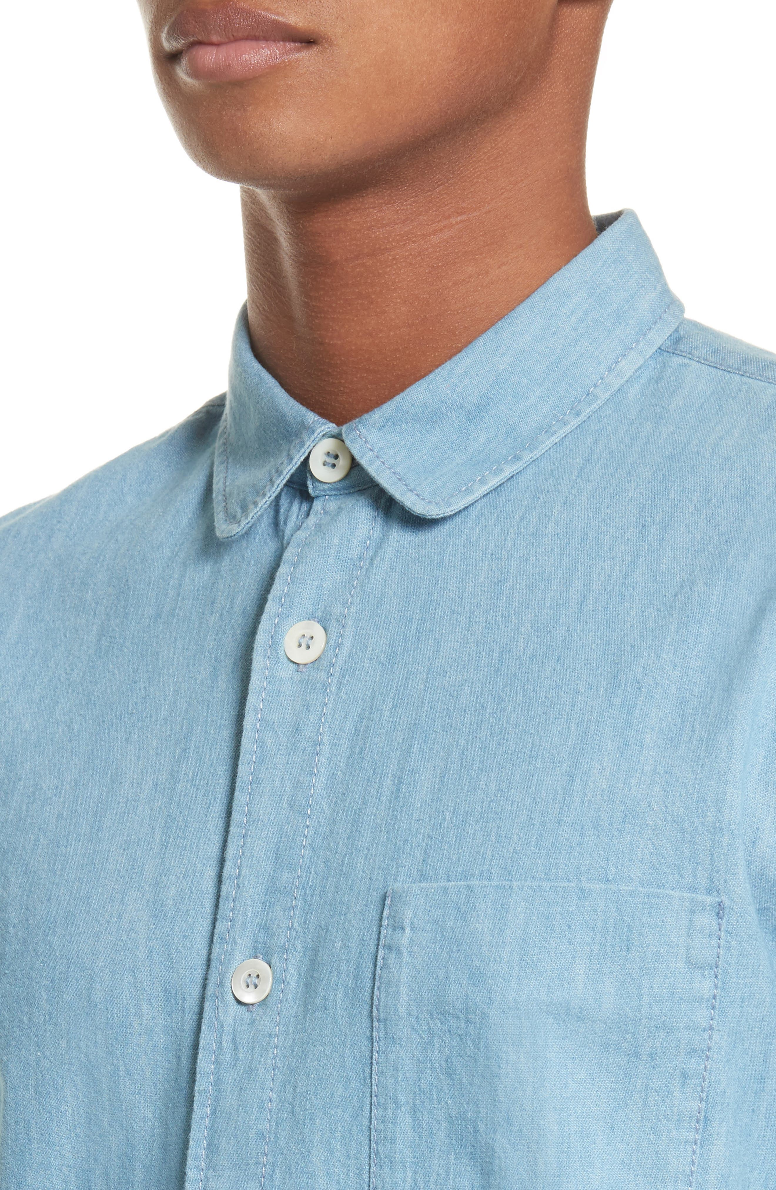 Chambray Shirt,                             Alternate thumbnail 2, color,                             Bleu Iaa