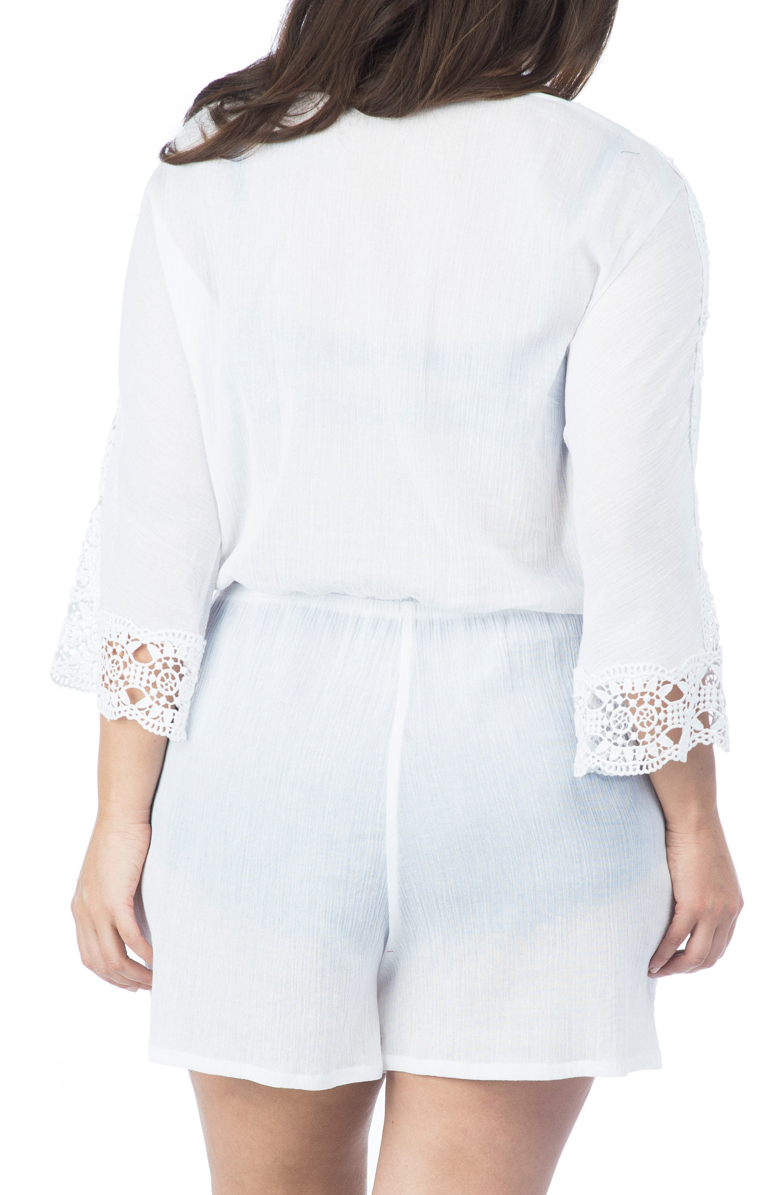 Island Fare Romper,                             Alternate thumbnail 2, color,                             White
